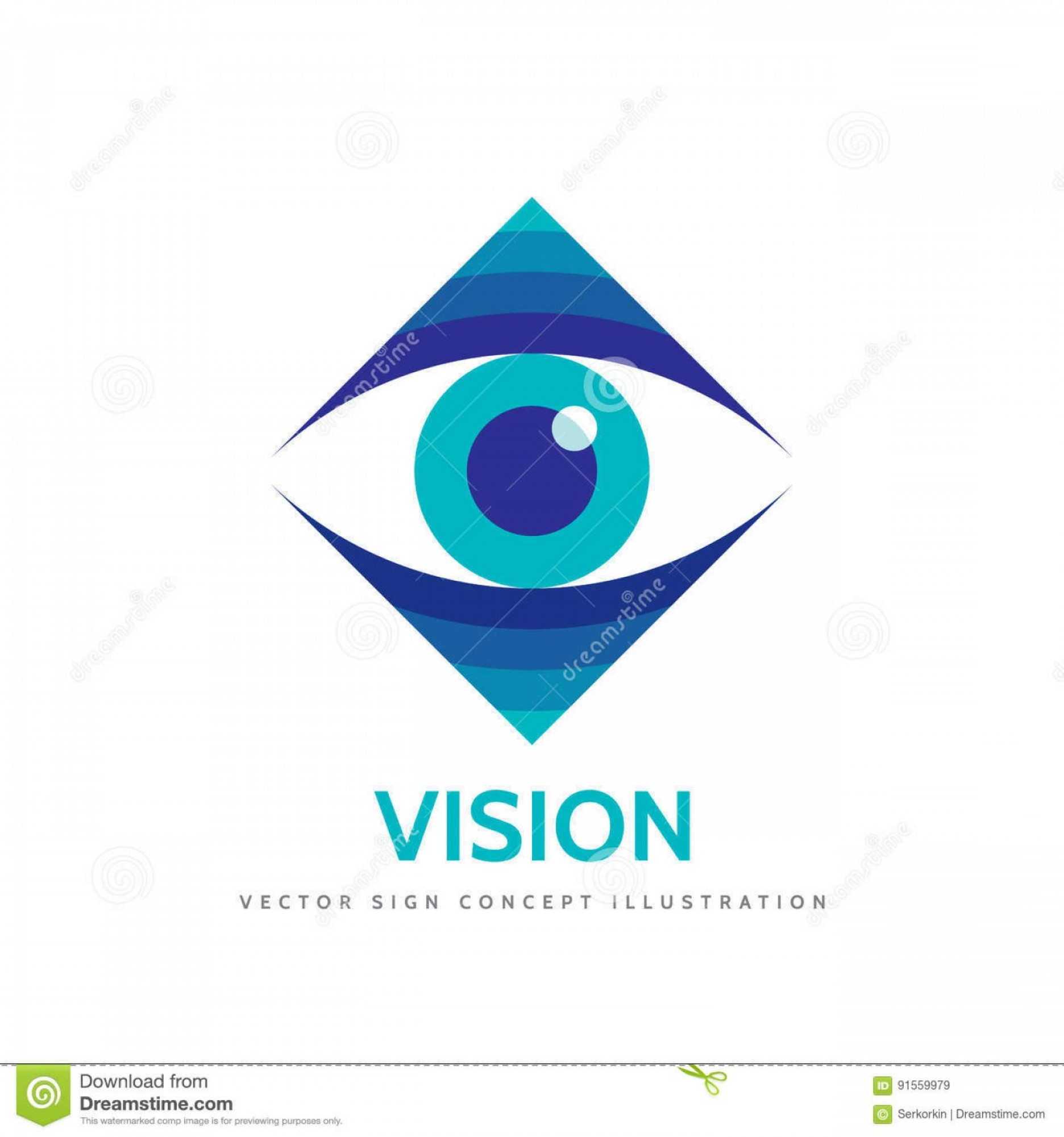 Eye Vector Logo: Stock Illustration Vision Vector Logo Template Concept Illustration Human Eye Medicine Ophthalmology Sign Design Element Image