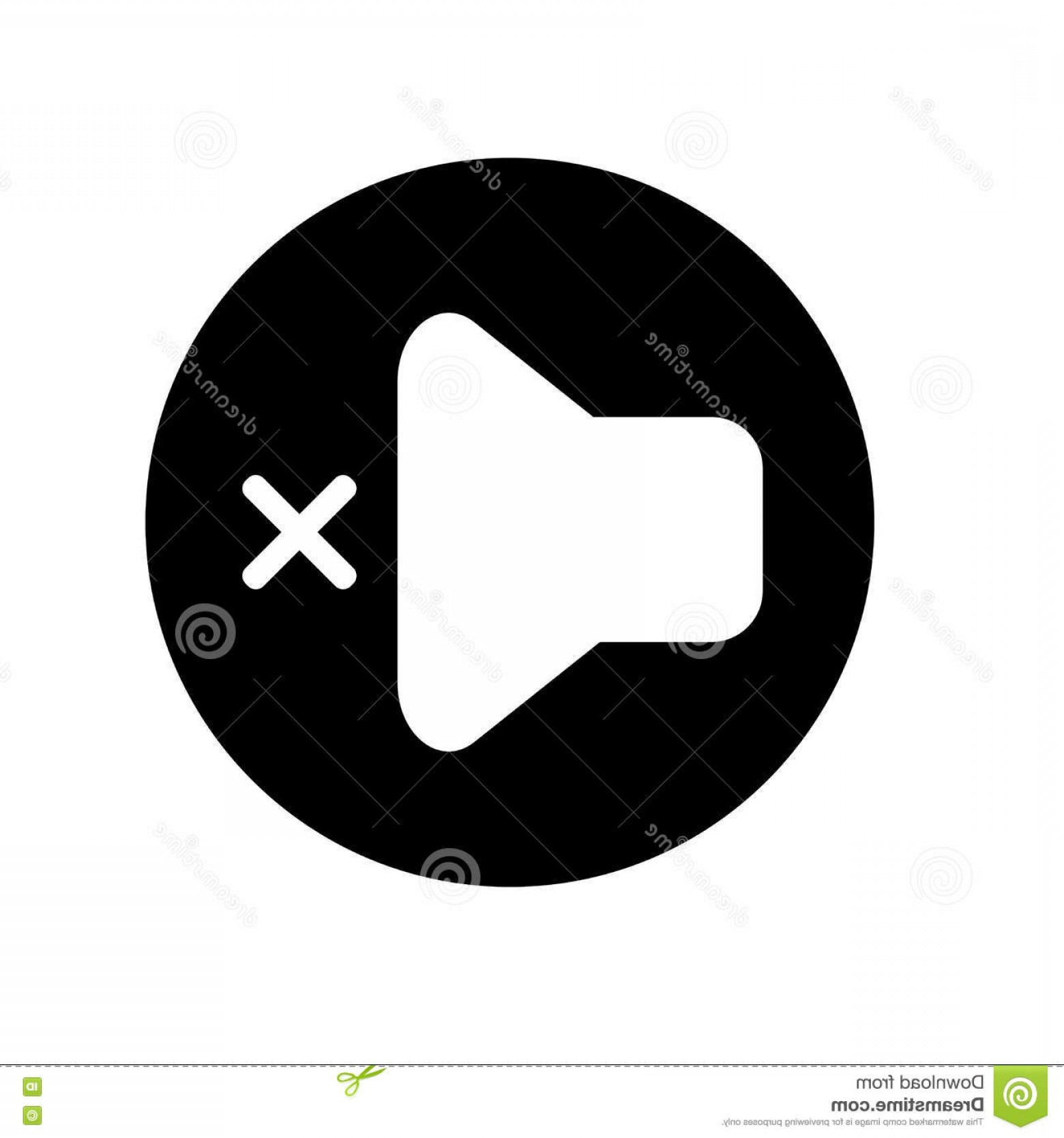 Volume Button Vector: Stock Illustration Volume Off Media Player Icon Illustration No Sound Icon Black White Icon Vector Illustration Image