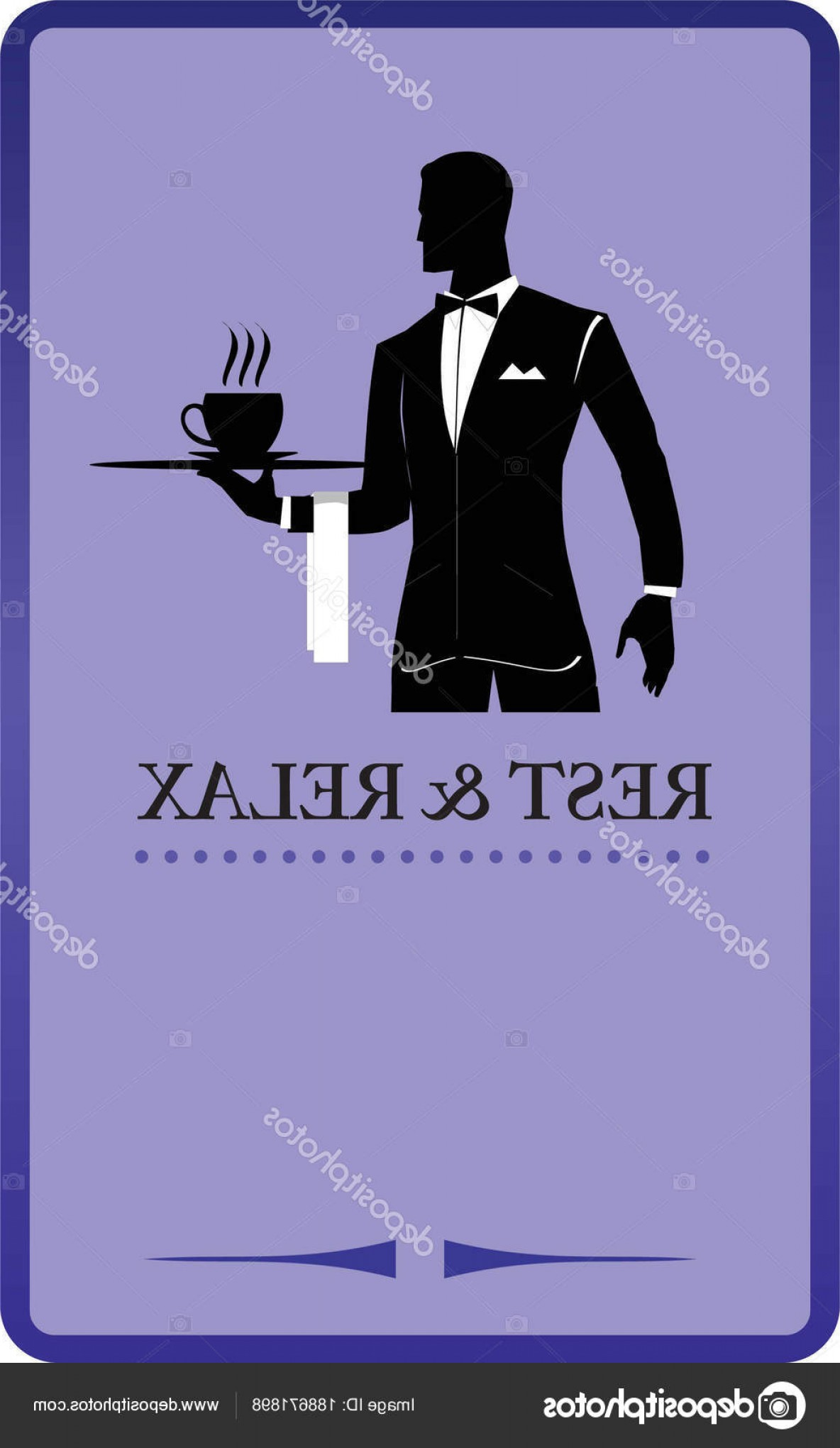 Vector Waiter Coffee: Stock Illustration Waiter Holding A Tray Restaurant