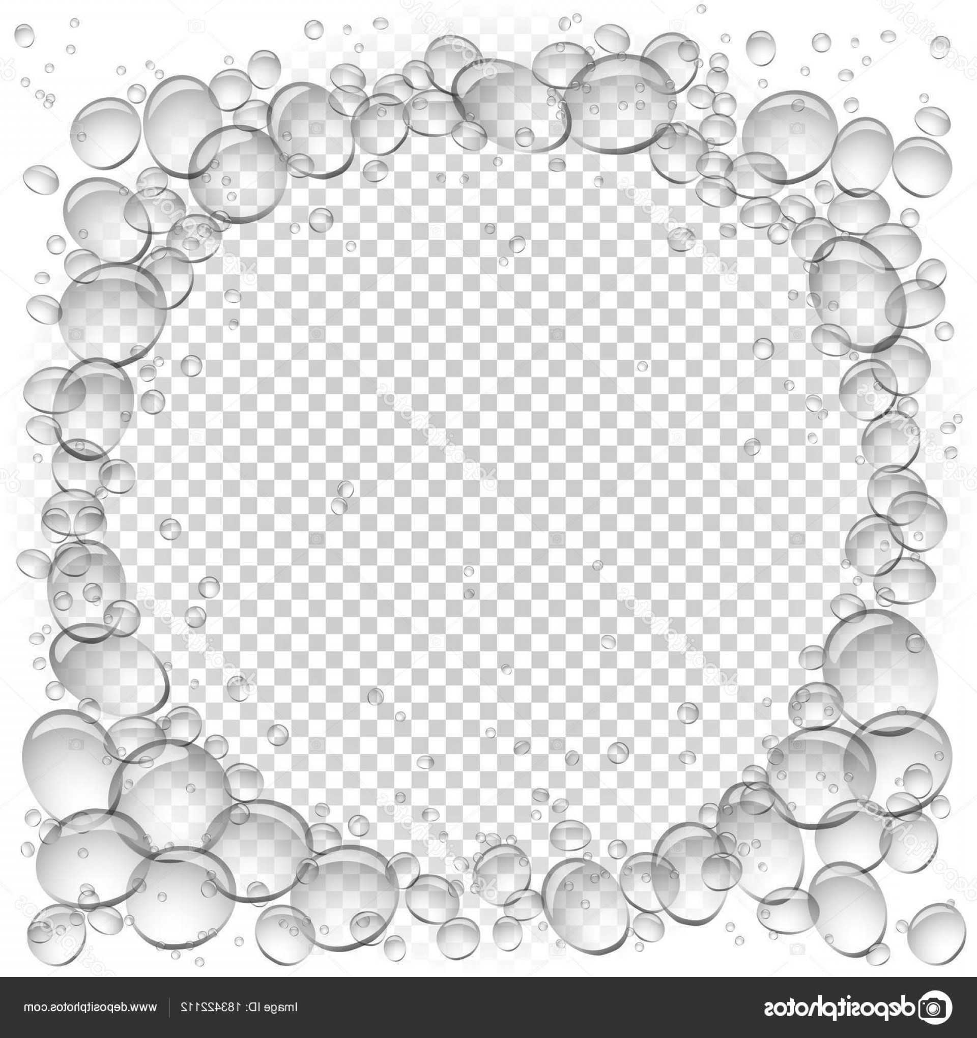 Vector Bubbles Circle: Stock Illustration Water Bubbles Circle Frame Transparent