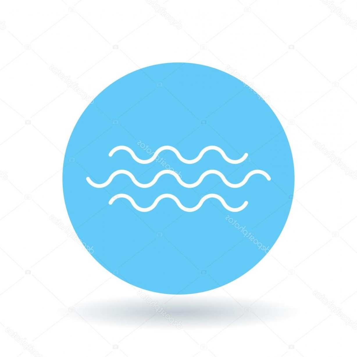 Water Flow Vector: Stock Illustration Water Flow Icon River Crossing