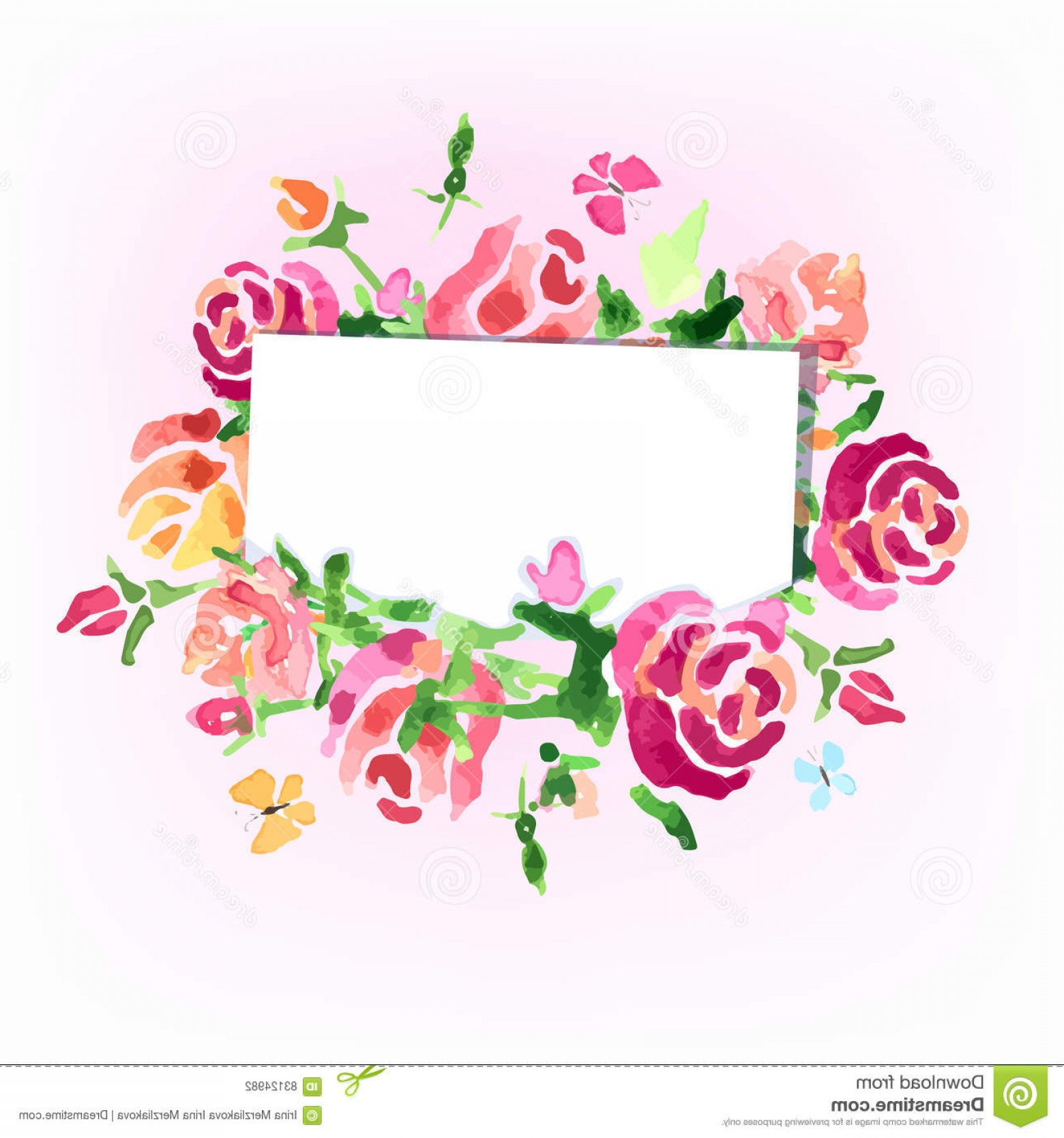 Watercolor Floral Background Vector: Stock Illustration Watercolor Flowers Background Day Roses Vector Image