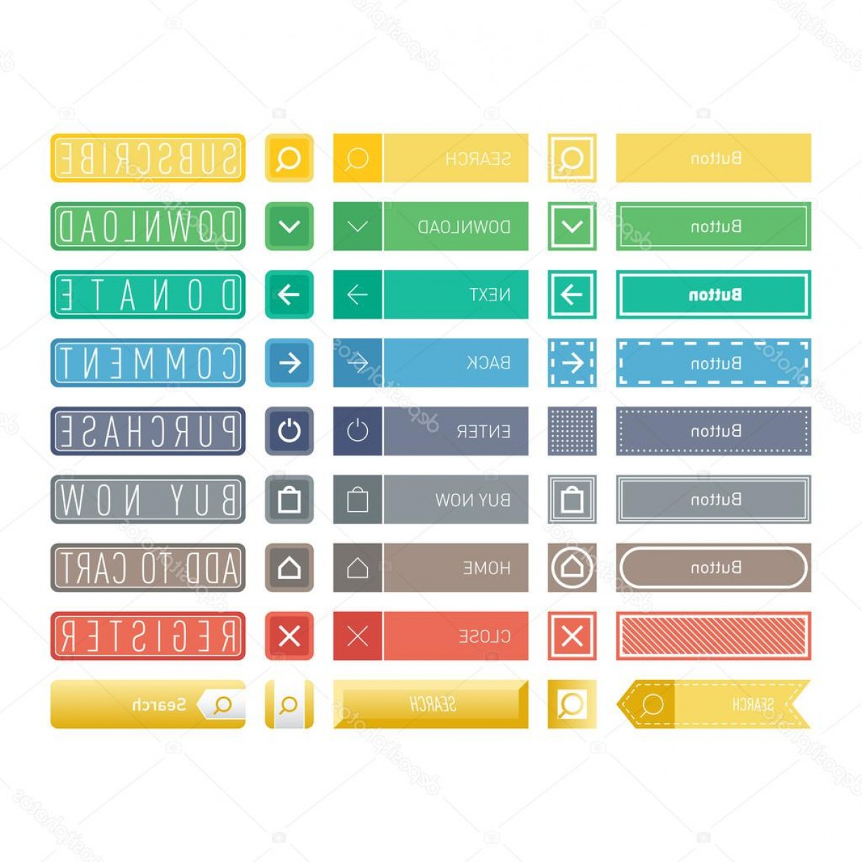 Web Buttons Vector: Stock Illustration Web Buttons Vector Icons