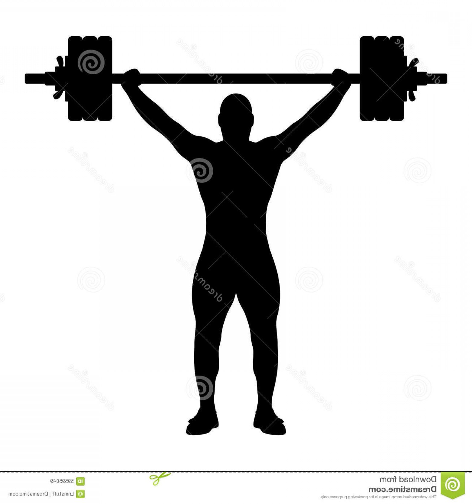 Vector Weight Lifting: Stock Illustration Weight Lifter Silhouette Vector Illustration Weightlifting Black White Background Editable Eps File Available Image