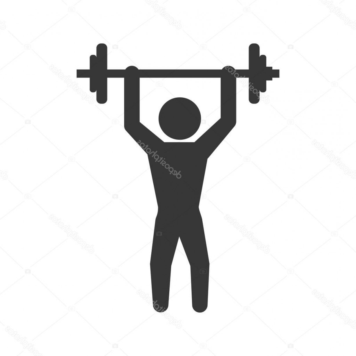 Weight Lifting Vector Graphics: Stock Illustration Weight Lifting Icon Healthy Lifestyle