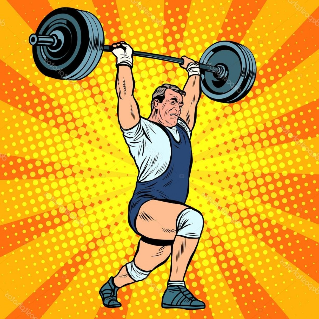 Weightlifter Vector Art: Stock Illustration Weightlifting A Weightlifter Raises The
