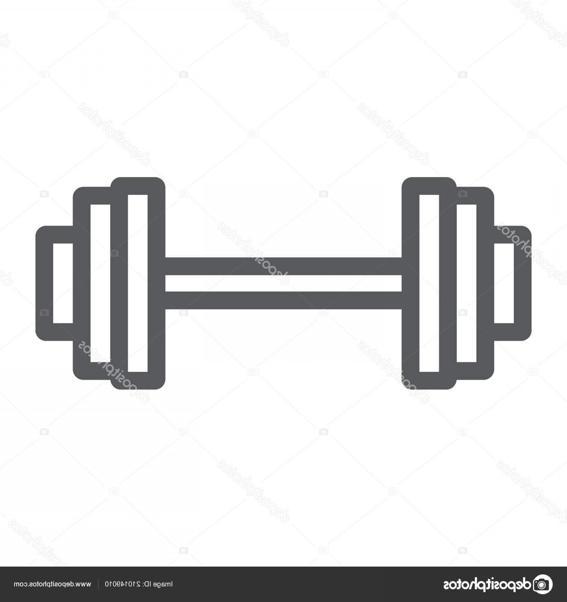 Weight Lifting Vector Graphics: Stock Illustration Weightlifting Line Icon Gym And