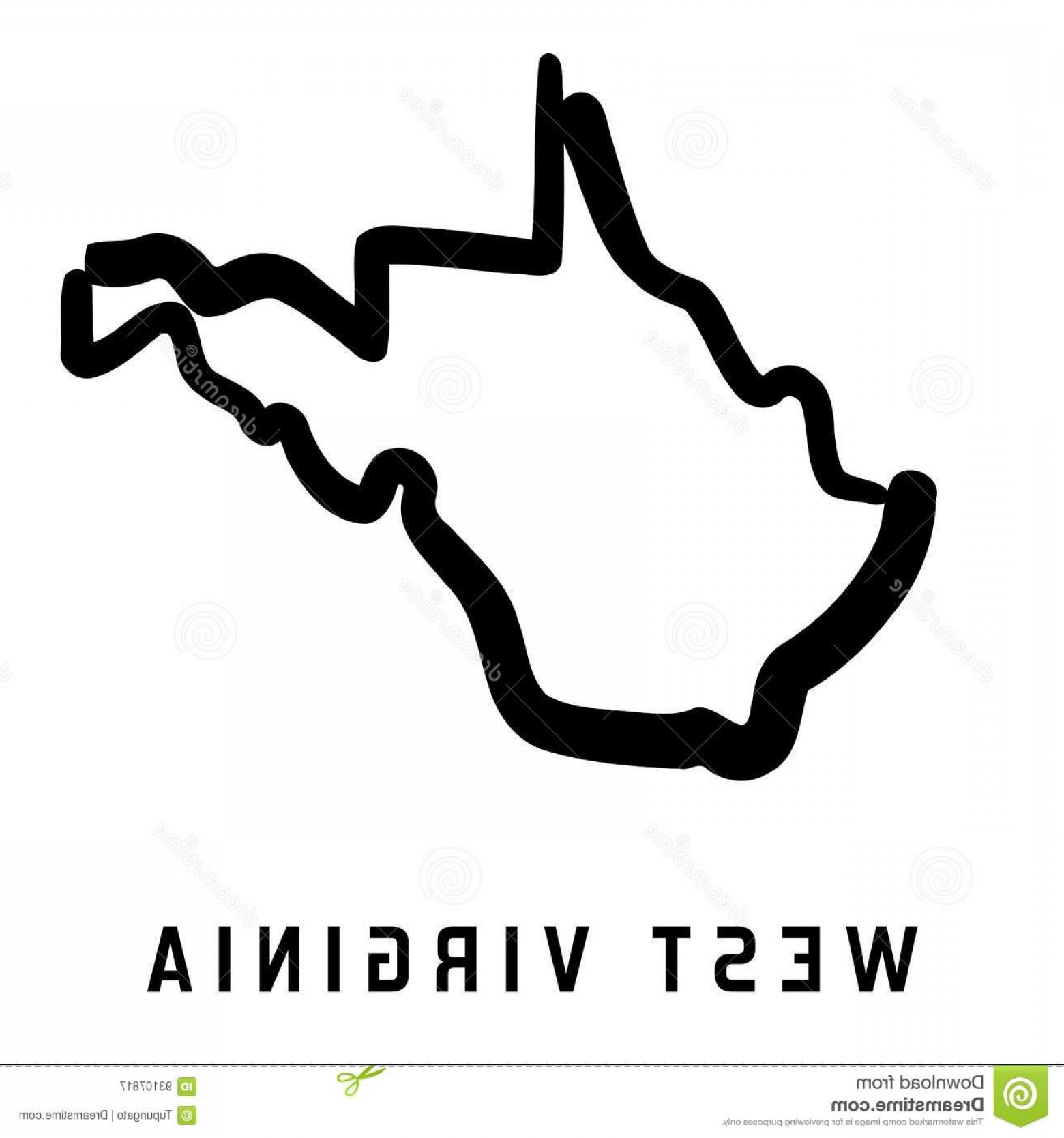 West Virginia Logo Vector: Stock Illustration West Virginia Simple Logo State Map Outline Smooth Simplified Us State Shape Map Vector Image