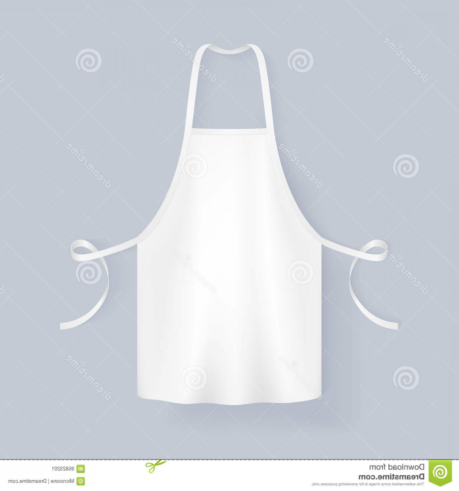 Apron Vector: Stock Illustration White Blank Kitchen Cotton Apron Vector Illustration Protective Uniform Cooking Baker Image
