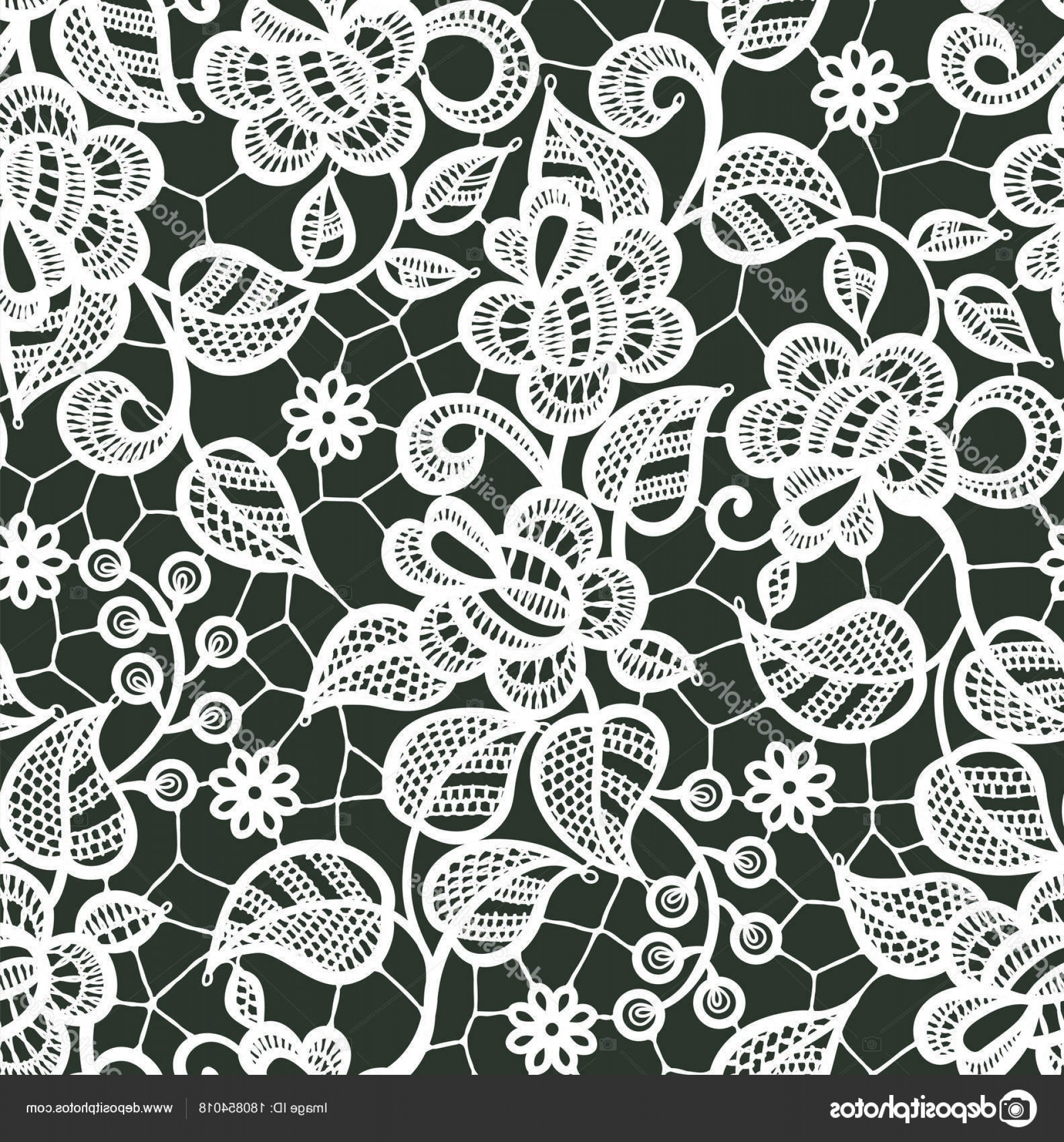 White Lace Vector: Stock Illustration White Lace Vector Seamless Pattern