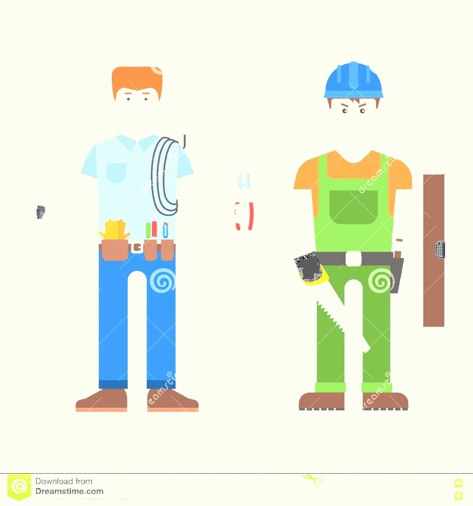 Vectorman LEGO: Stock Illustration Worker Man Vector Character Construction Wearing Work Clothes Working Different Tools Design Isolated Person Image