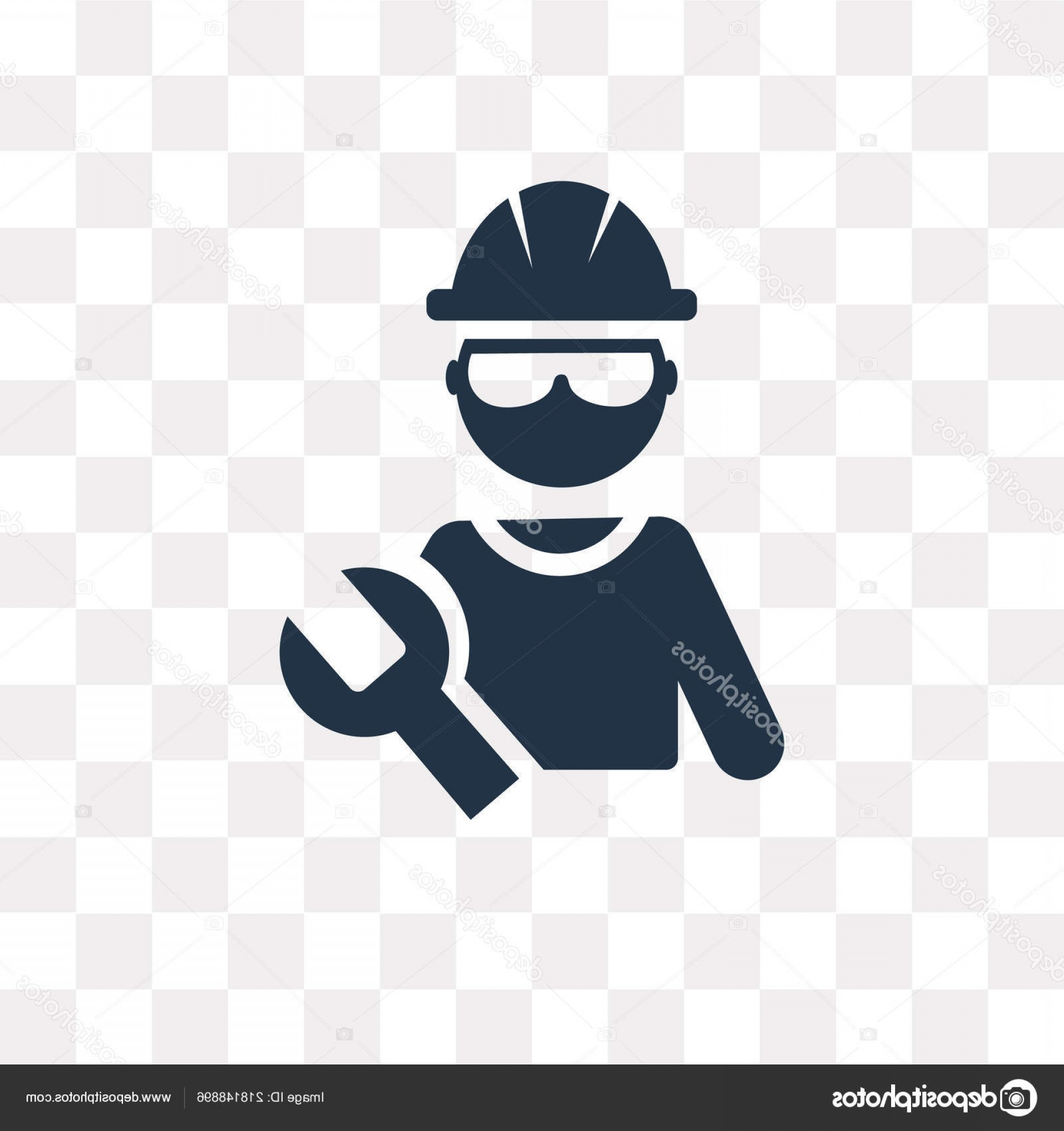 Worker Vector: Stock Illustration Worker Vector Icon Isolated Transparent
