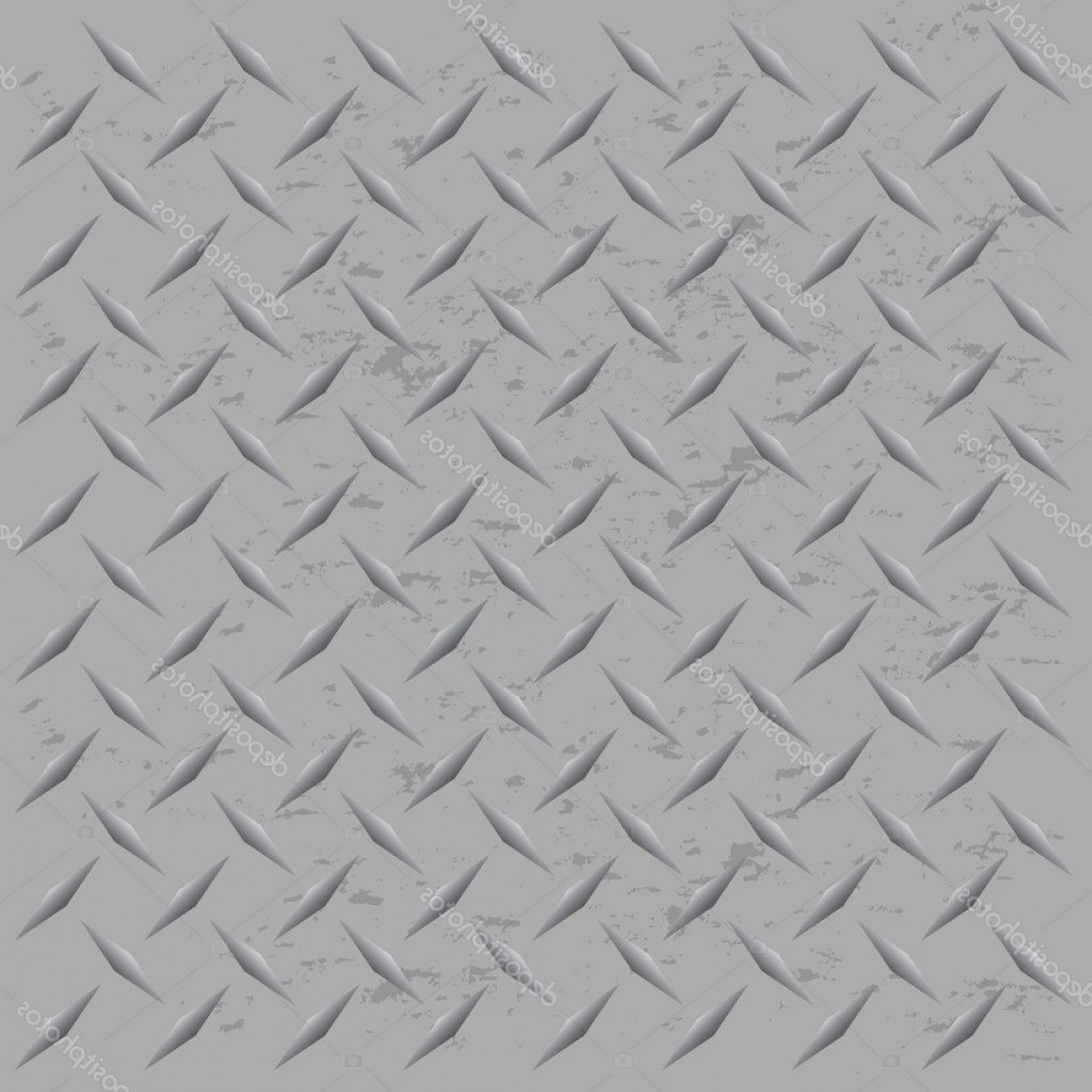 Diamond Plate Vector Pattern: Stock Illustration Worn Diamond Plate Vector