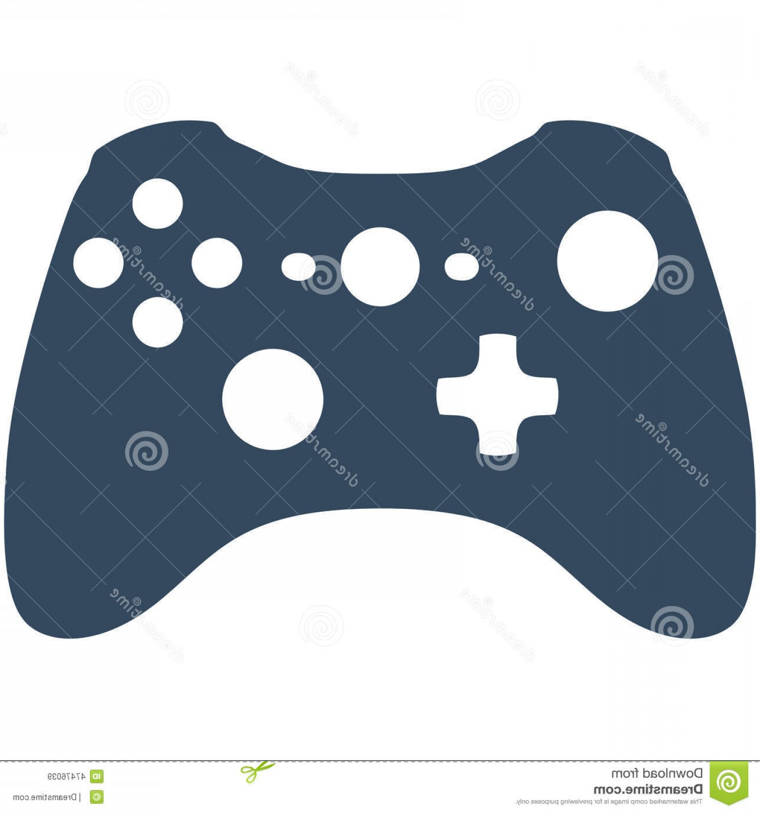 Xbox Game Controller Vector: Stock Illustration Xbox Game Controller Vector Silhouette Ideal Webpage Icons Font Image