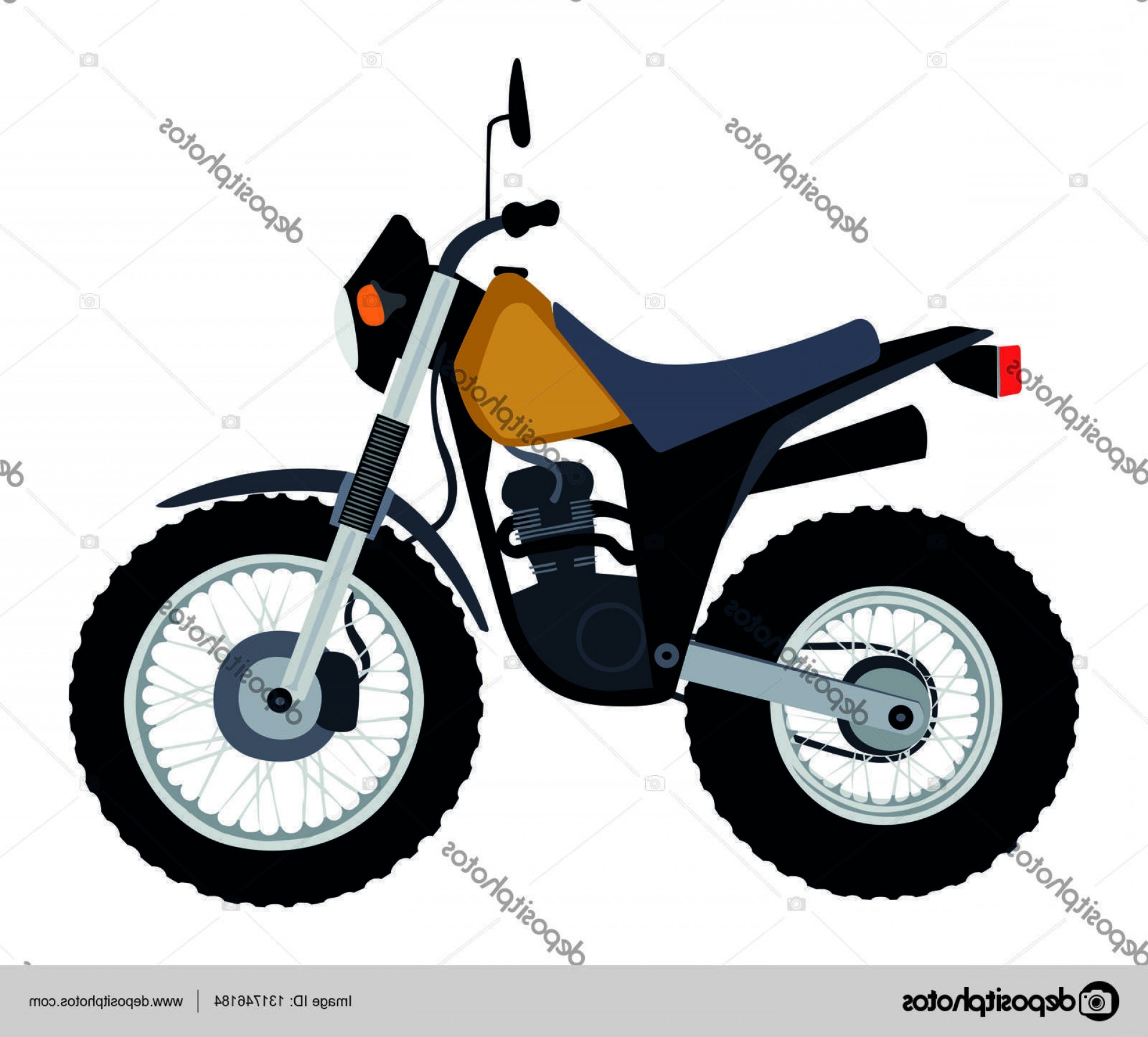 2016 Yamaha Vector: Stock Illustration Yamaha Tw Dirt Bike