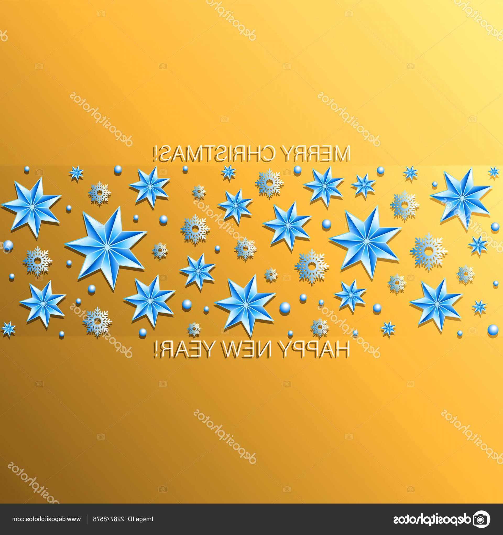 Stars Yellow Christmas Vector: Stock Illustration Yellow Festive Background Strip Snowflakes