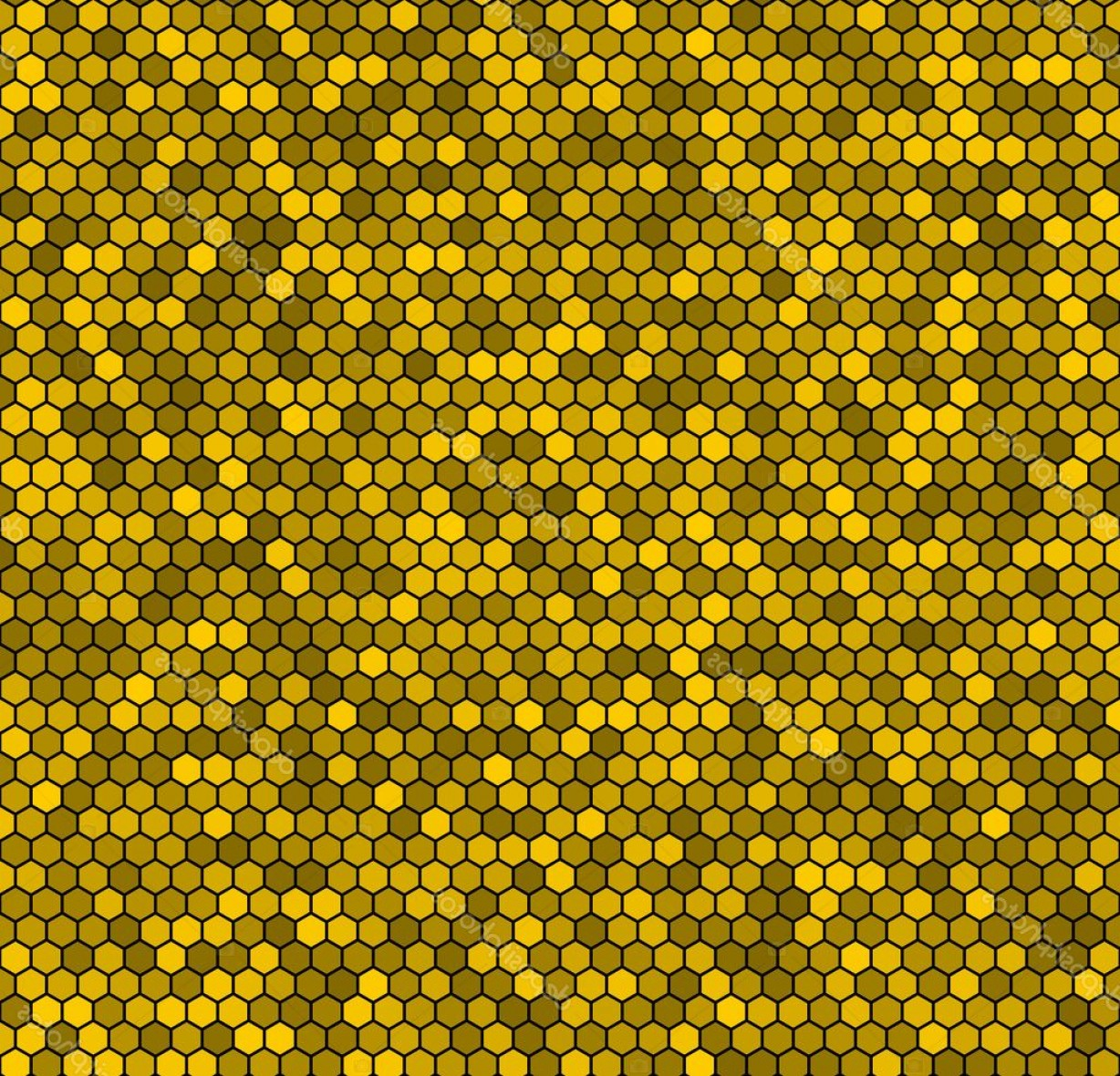 Honeycomb Background Pattern Vector: Stock Illustration Yellow Honeycomb Vector Background