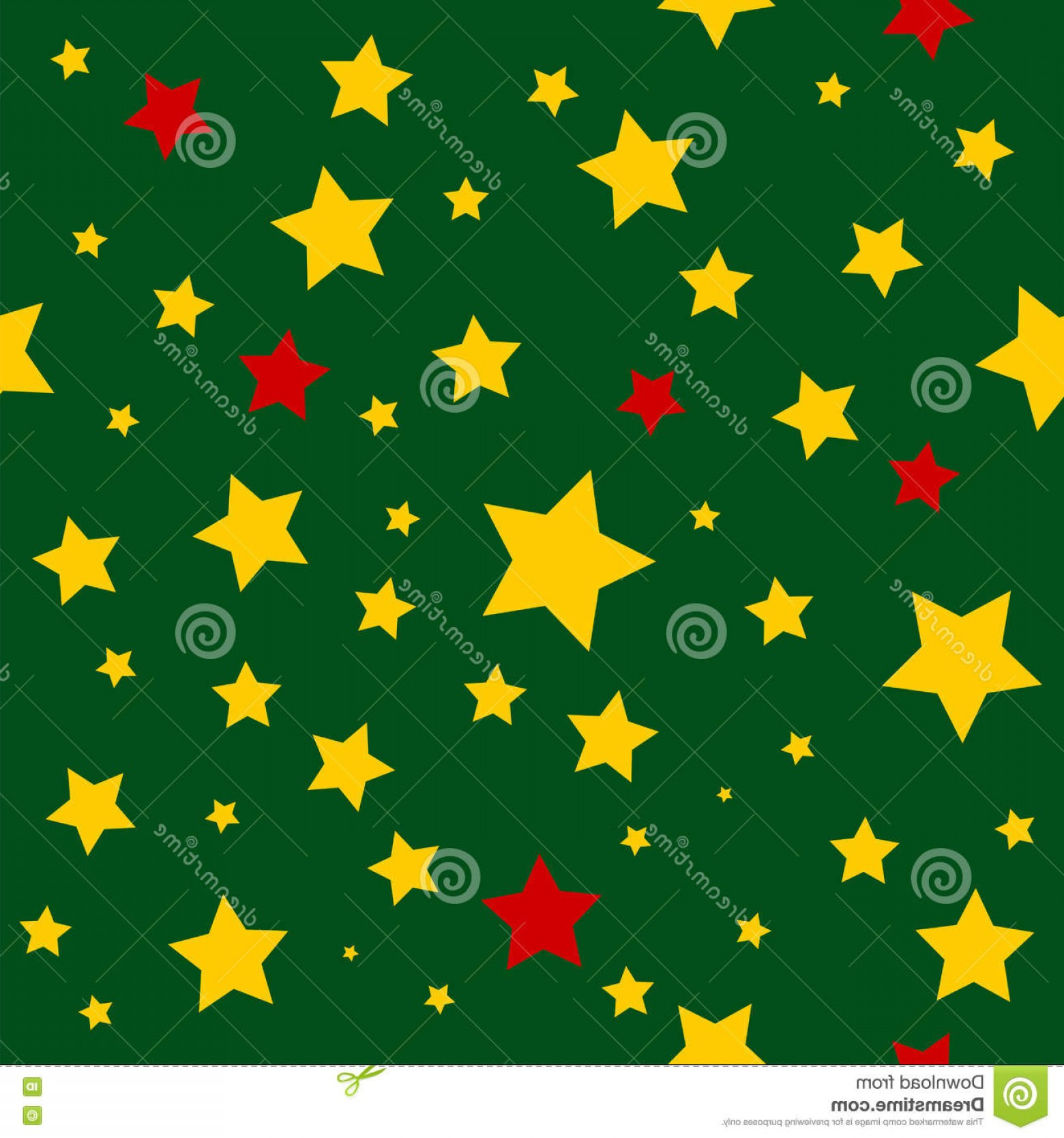 Stars Yellow Christmas Vector: Stock Illustration Yellow Red Stars Green Christmas Background Vector Illustration Image