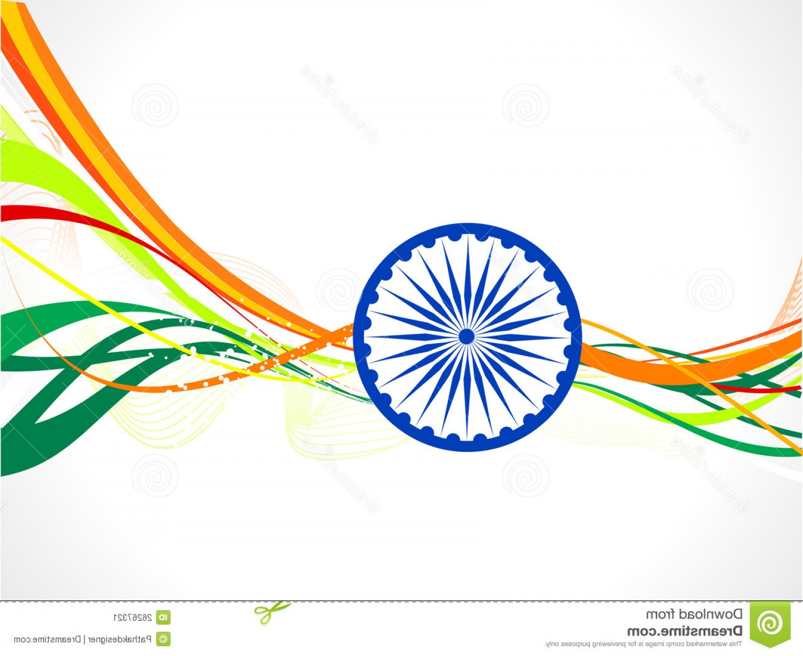 India Flag Vector: Stock Image Abstract Indian Flag Wave Concept Image