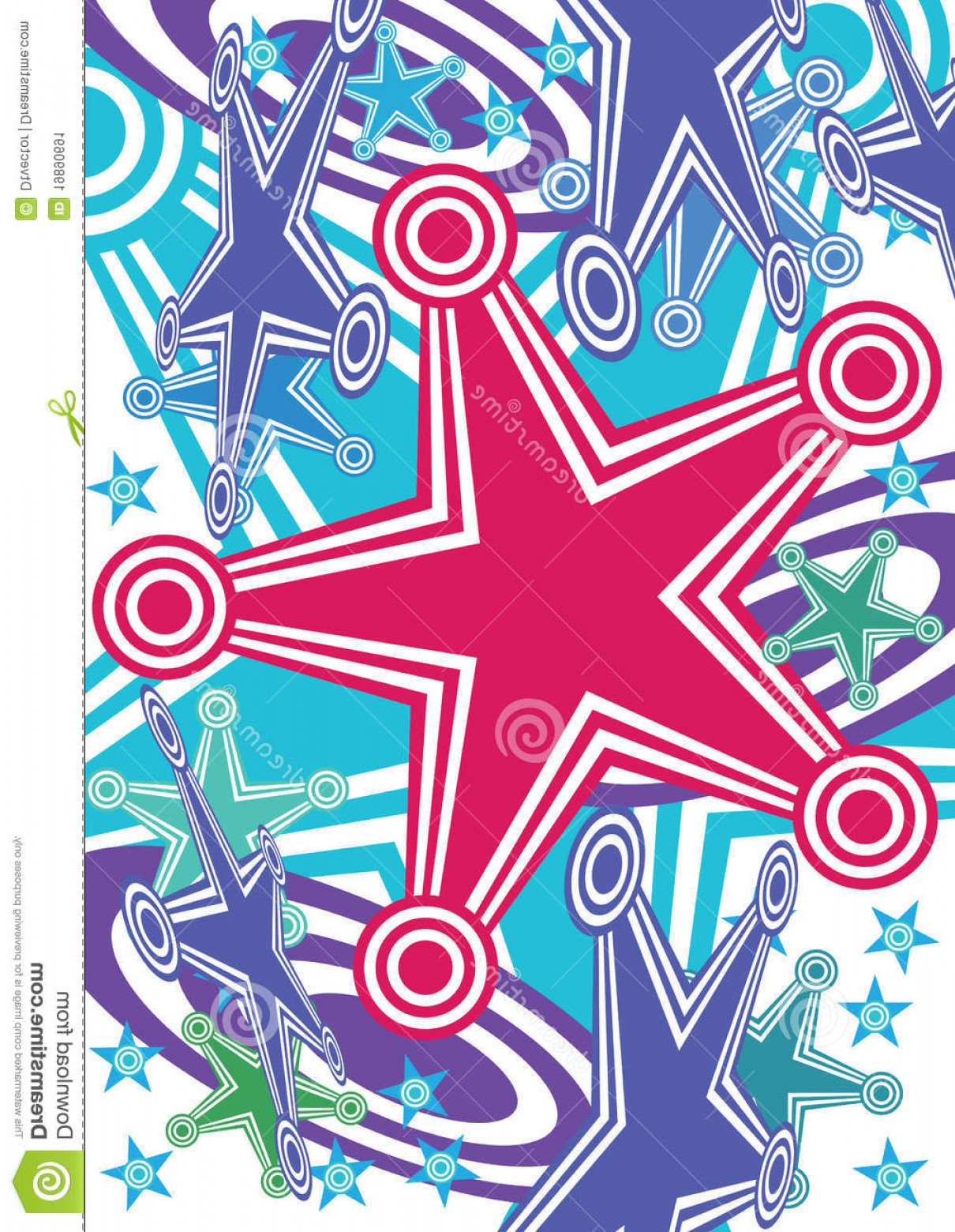 Active Border Vector: Stock Image Abstract Stars Hit Target Active Eps Image