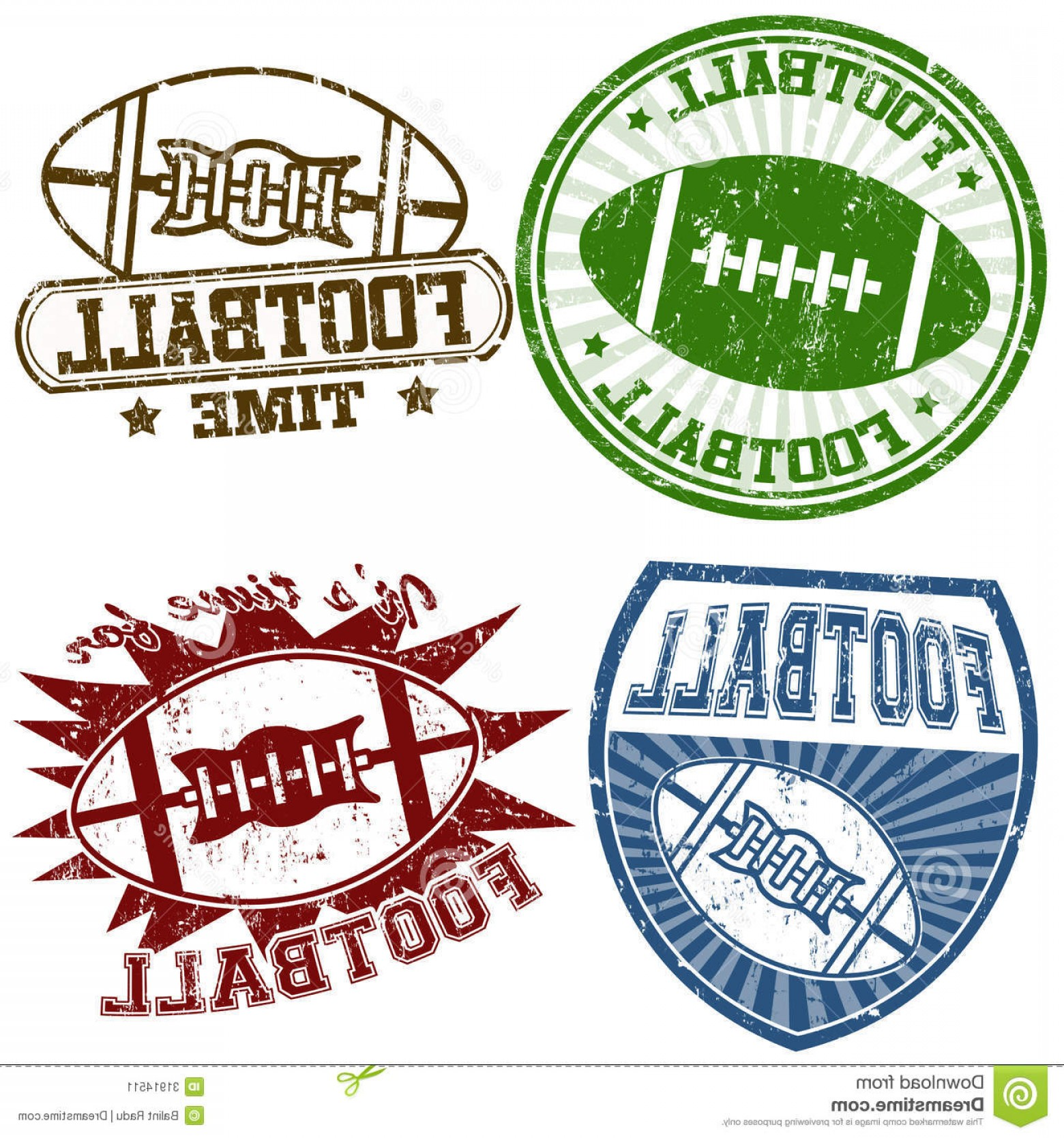 High Res Vector American Football: Stock Image American Football Stamps Set Grunge Rubber Vector Illustration Image