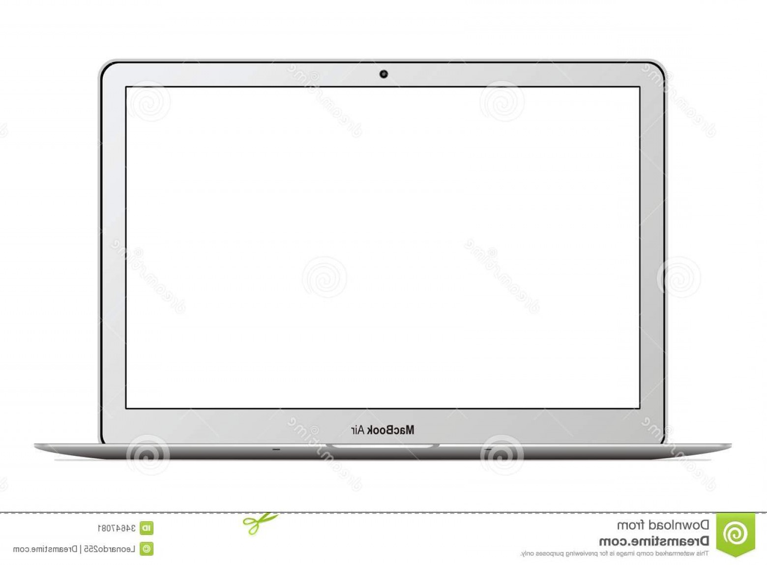 Vector Monitors Mac: Stock Image Apple Macbook Air Vector Illustration Eps Image