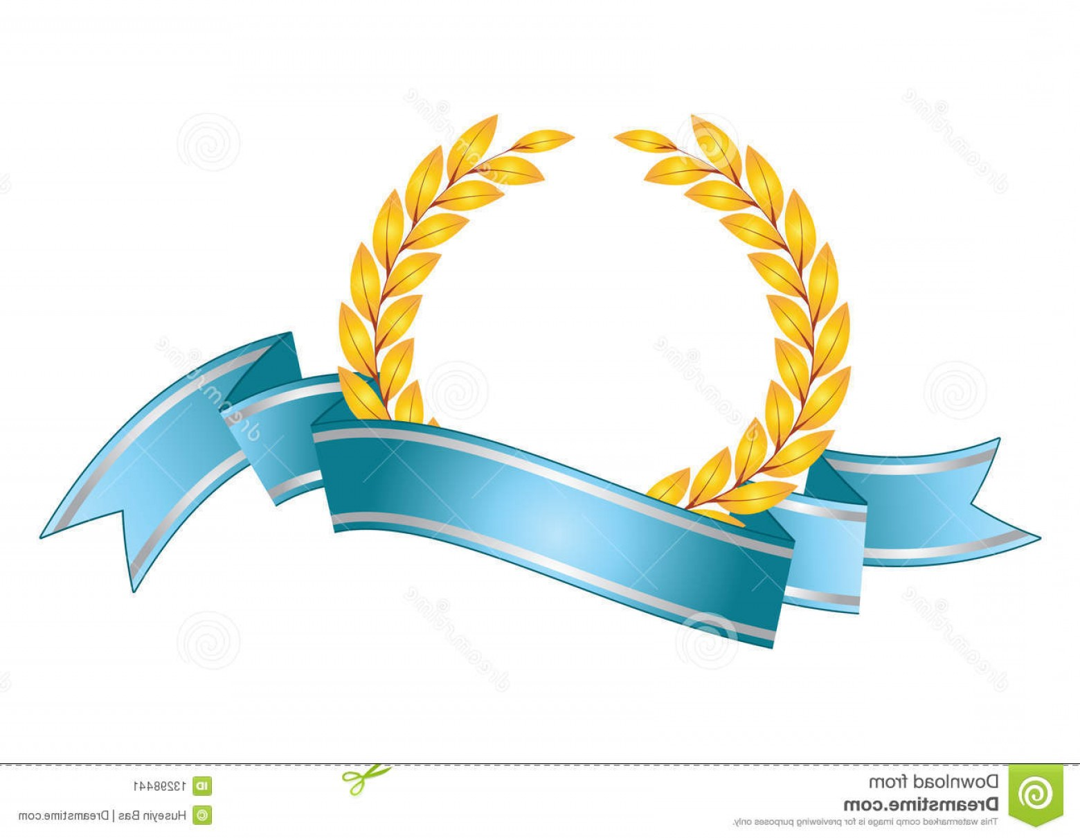 Award Vector Leaves: Stock Image Award Leaf Symbol Image