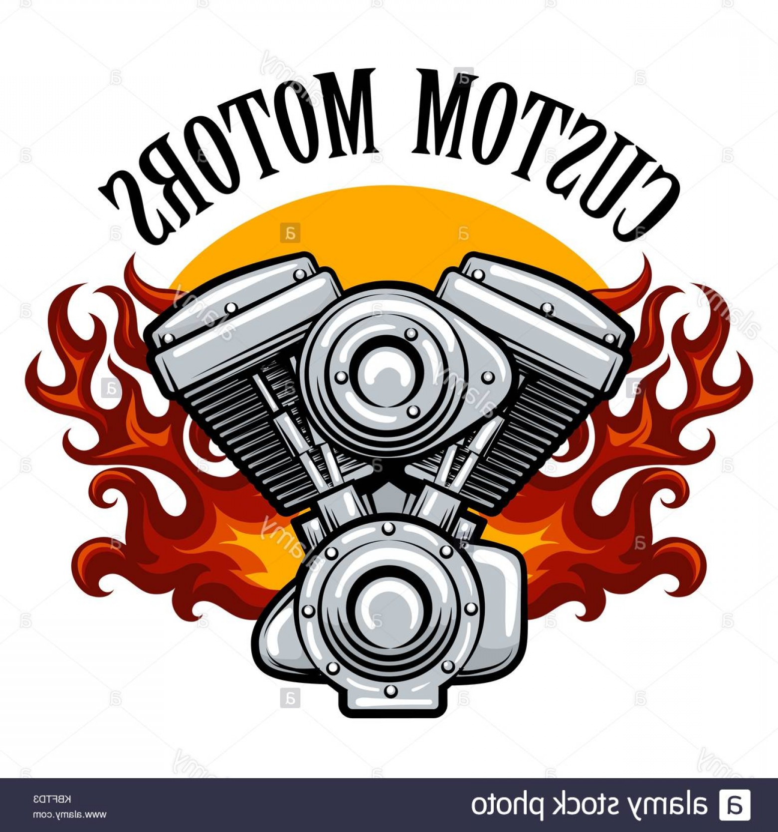 Motorcycle Club Vector: Stock Image Bikers Racing Team Motorcycle Club Or Motorcycle Service Badge With