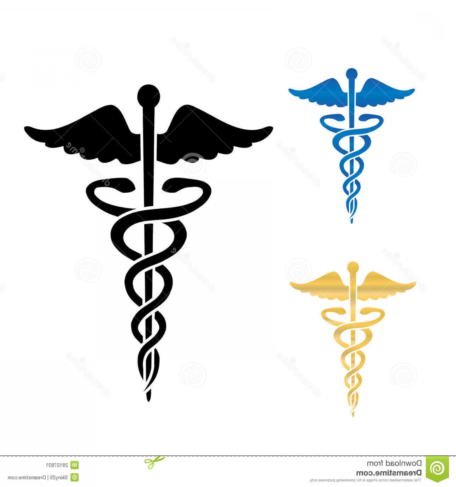 Medical Scepter Vector: Stock Image Caduceus Medical Symbol Vector Illustration Image