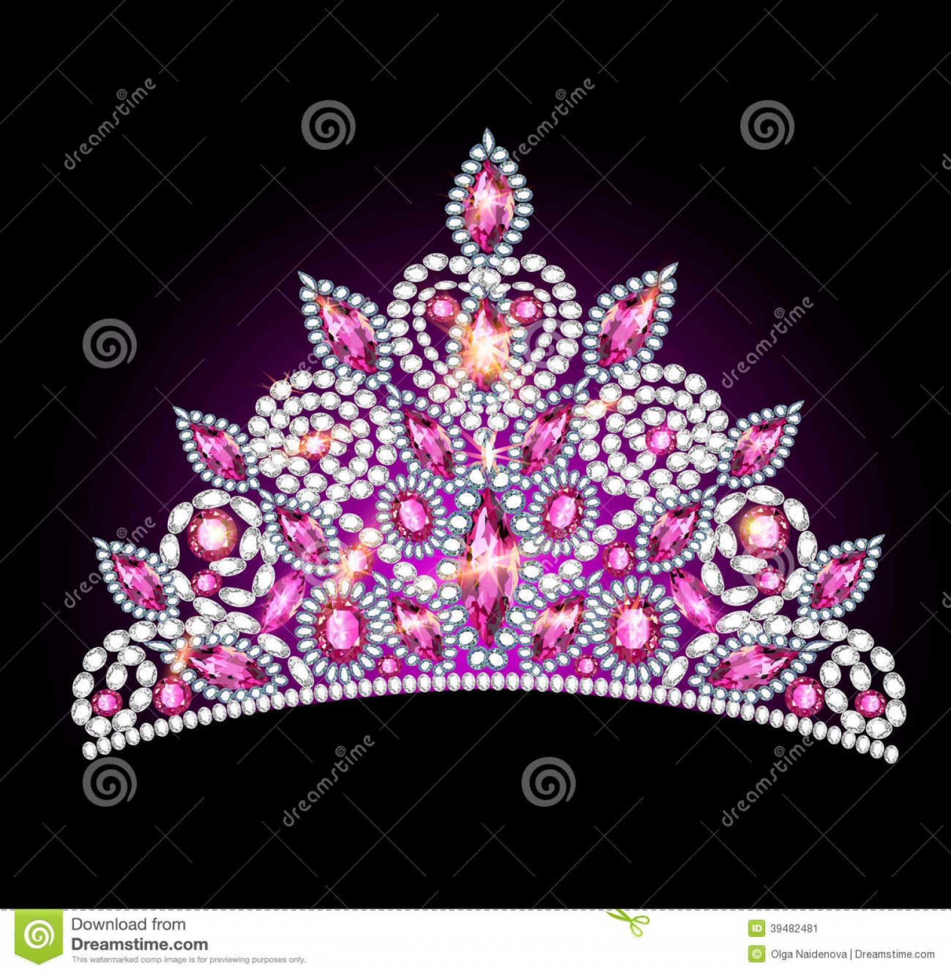 Pageant Tiaras Vector: Stock Image Diamond Tiara Vector Illustrations Image