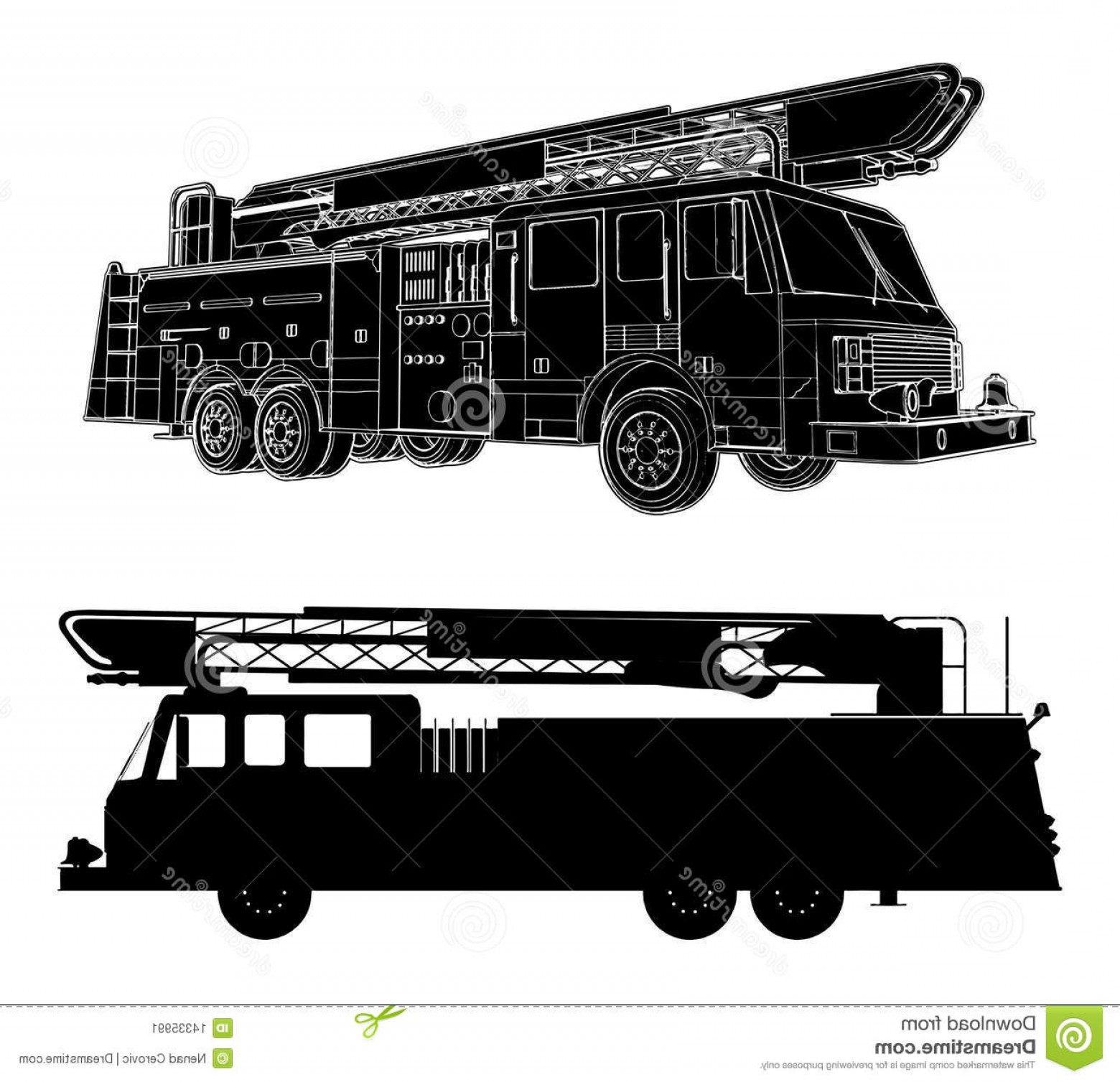Fire Truck Vector Art: Stock Image Fire Engine Vector Image