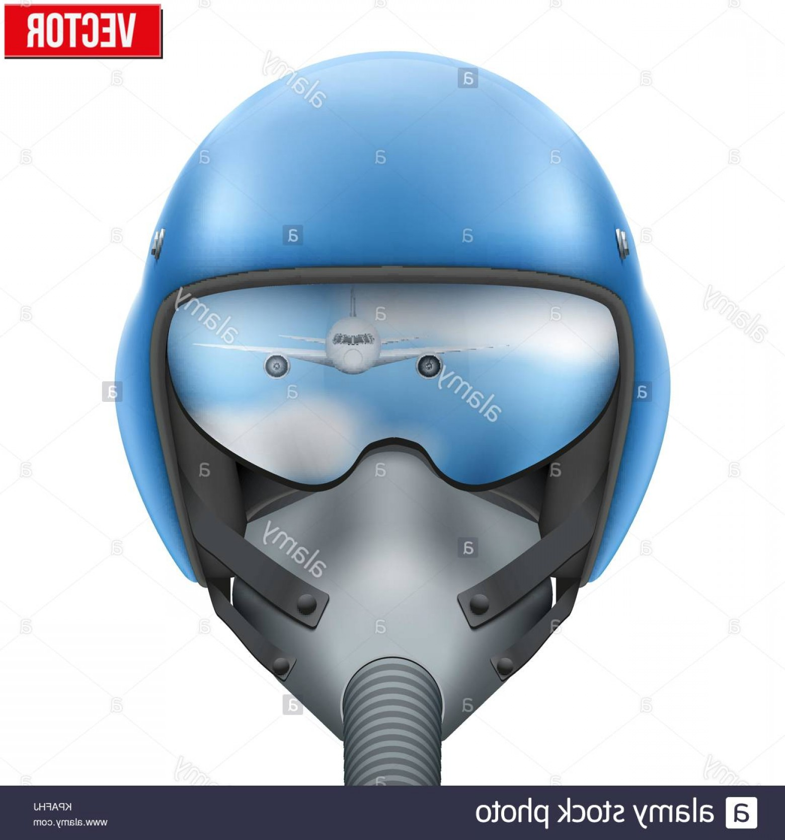 Fighter Helmet Vectors: Stock Image Military Flight Fighter Pilot Helmet Vector