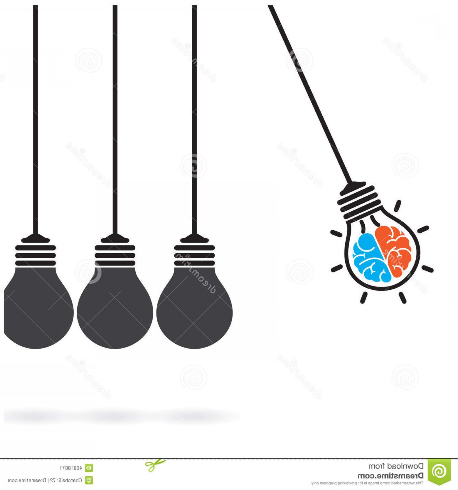 Creative Light Bulb Vector: Stock Image Newton S Cradle Concept Background Creative Light Bulb Idea C Business Abstract Vector Illustration Image