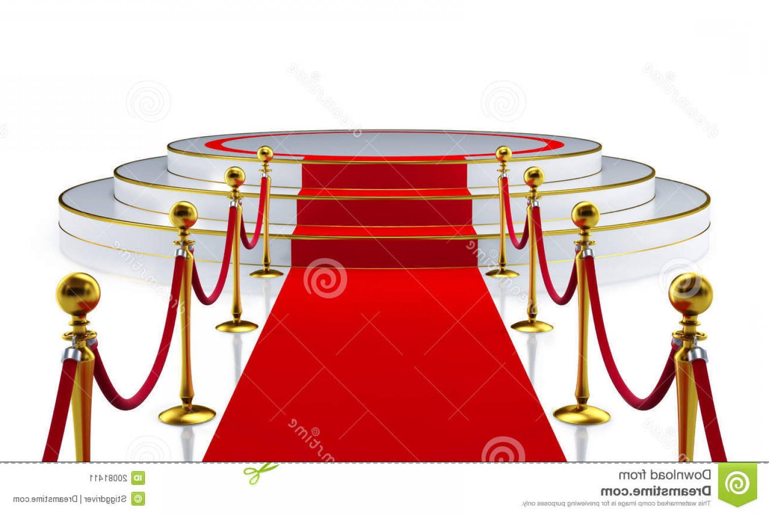 Carpet Vector 2D: Stock Image Round Stage Red Carpet Image