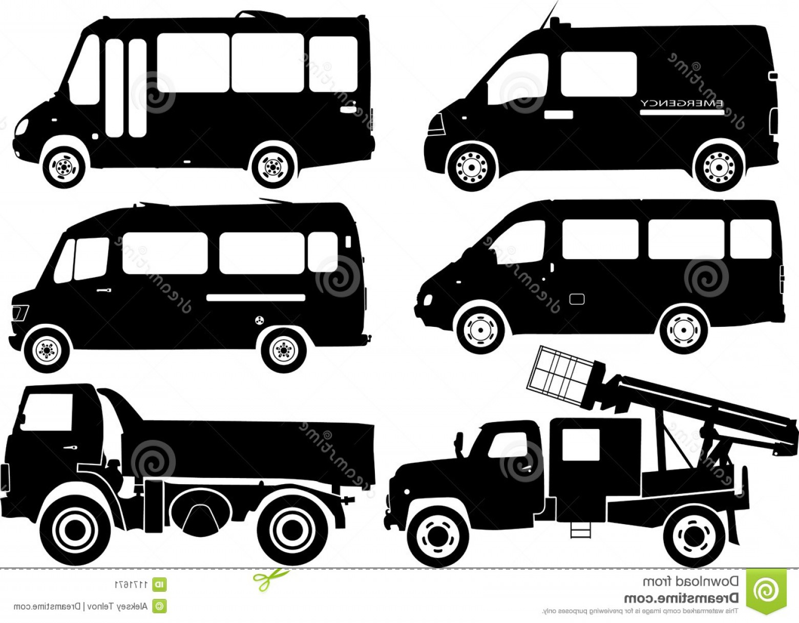 Car Vector Front Elevation: Stock Image Silhouette Cars Vector Image