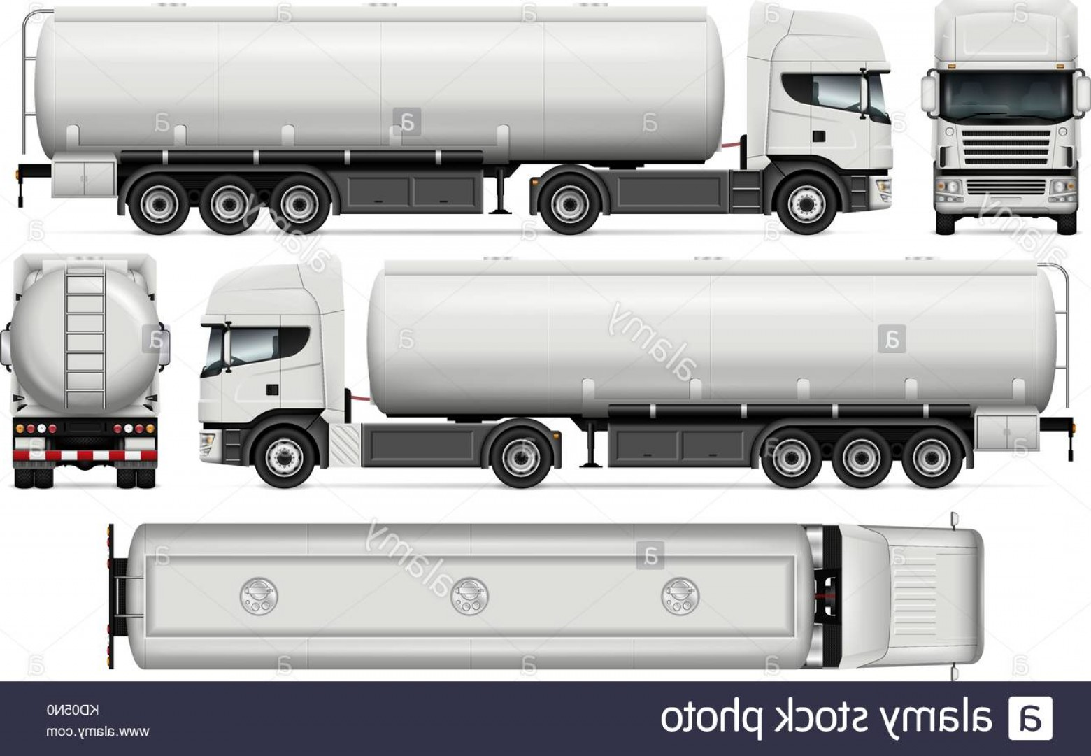 Tank Trucks Vector Art: Stock Image Tanker Truck Vector Mock Up For Car Branding And Advertising Elements