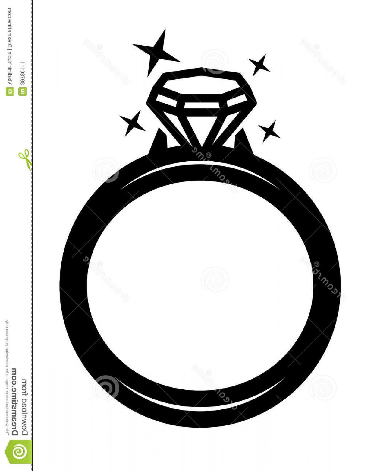 Black Diamond Vector Clip Art: Stock Image Vector Black Ring Diamond Icon White Backgorund Image