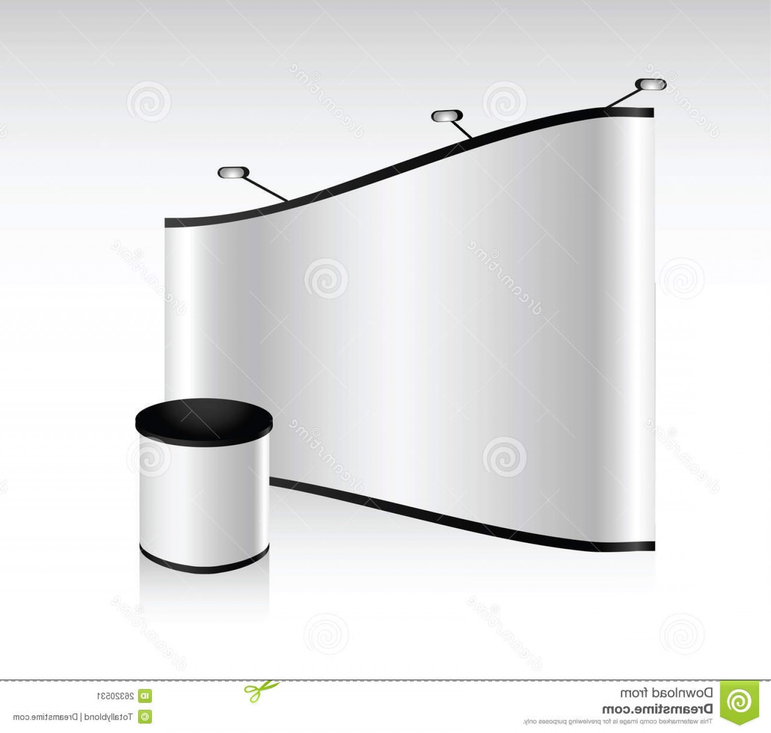 Commercial Booth Vector: Stock Image Vector Blank Trade Show Booth Image