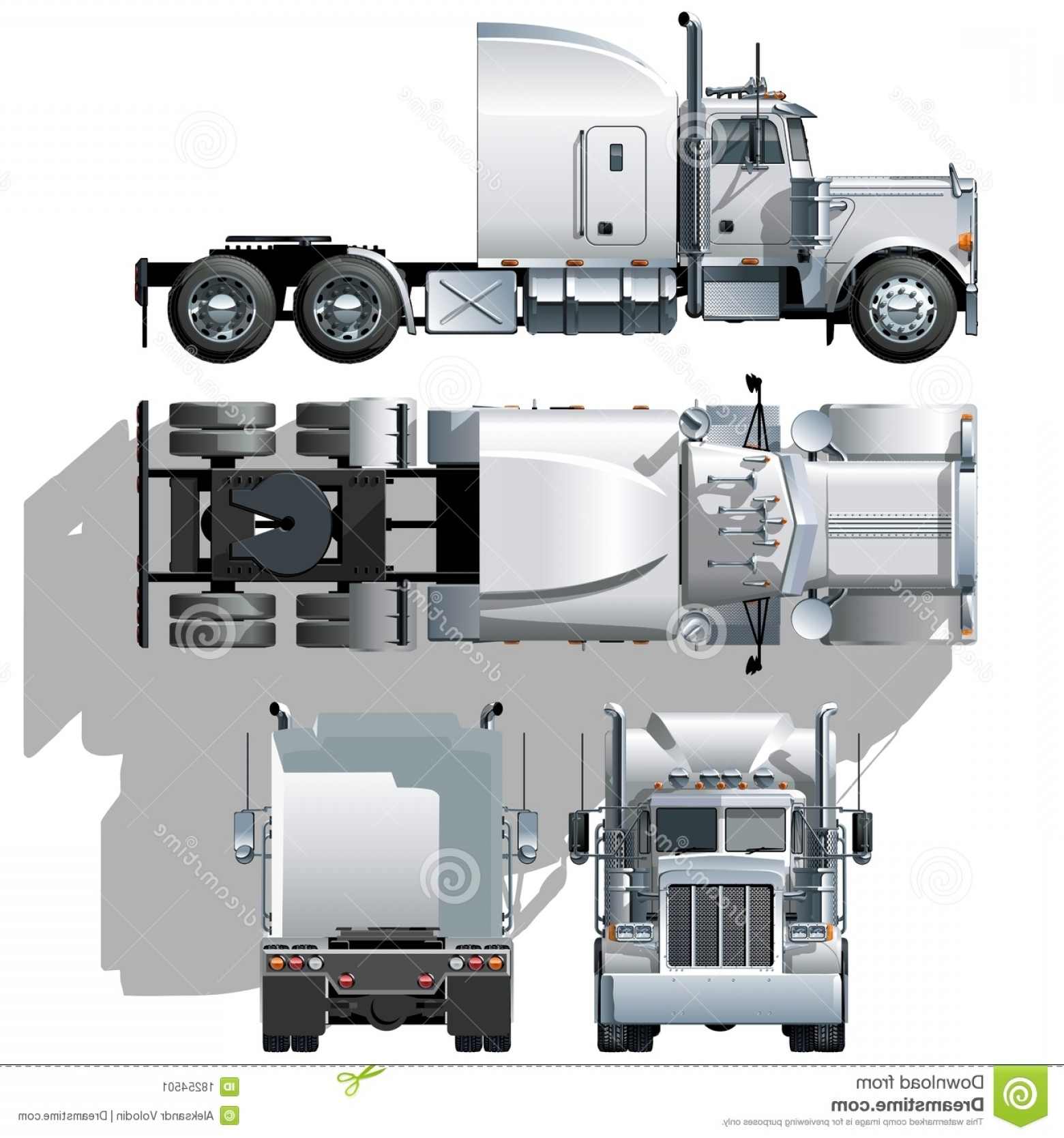 Vector Semi Tanker: Stock Image Vector Hi Detailed Semi Truck Image