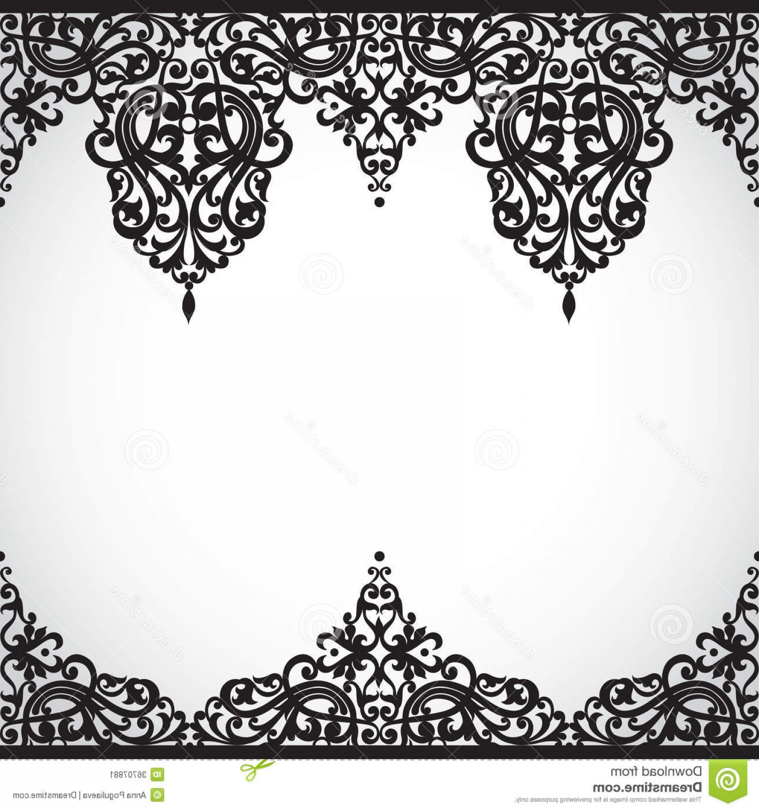 Victorian Style Frame Vector: Stock Image Vector Seamless Border Victorian Style Element Design You Can Place Text Empty Frame Can Be Used Decorating Image