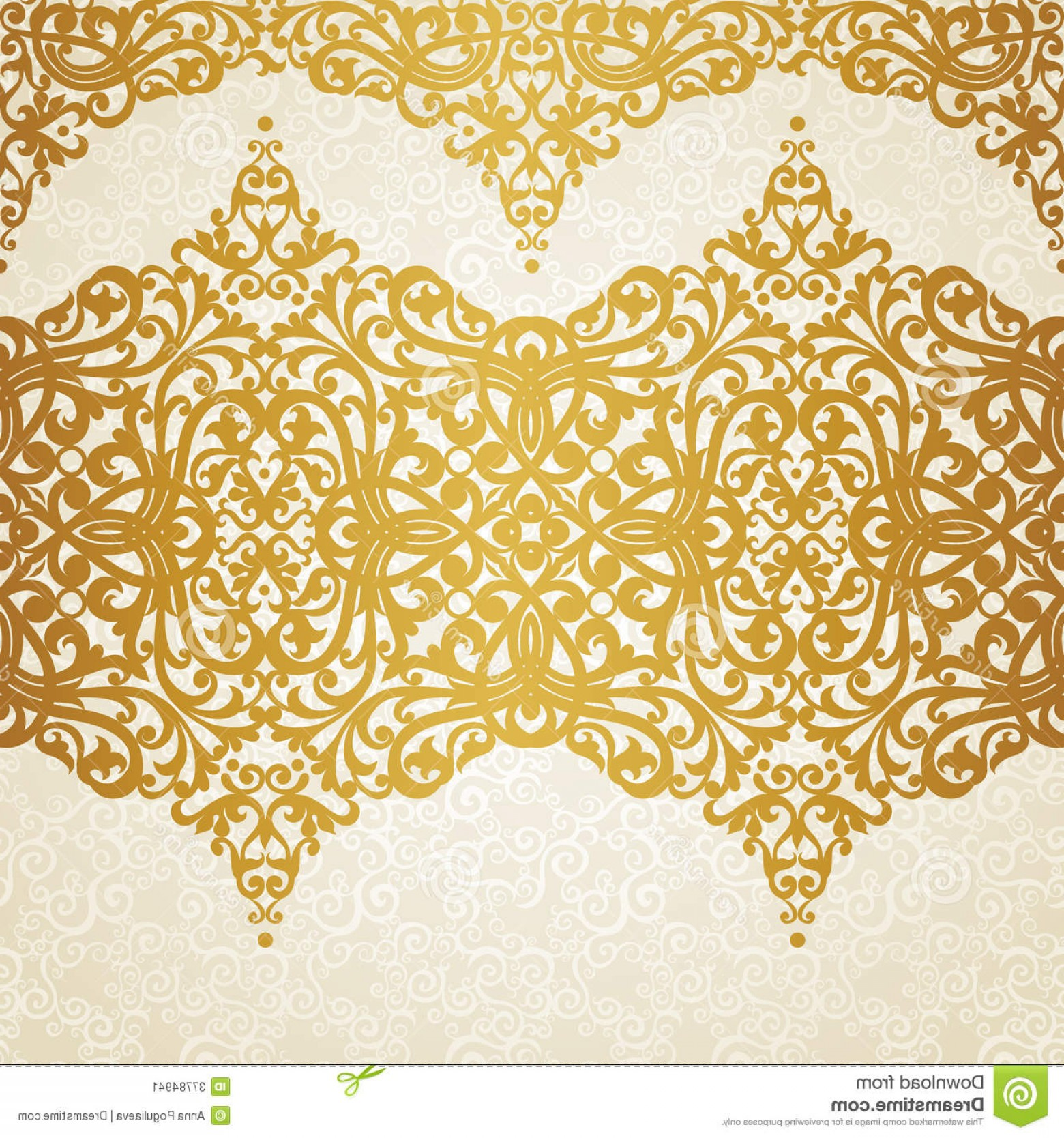 Victorian Style Frame Vector: Stock Image Vector Seamless Border Victorian Style Element Design You Can Place Text Empty Frame Can Be Used Image
