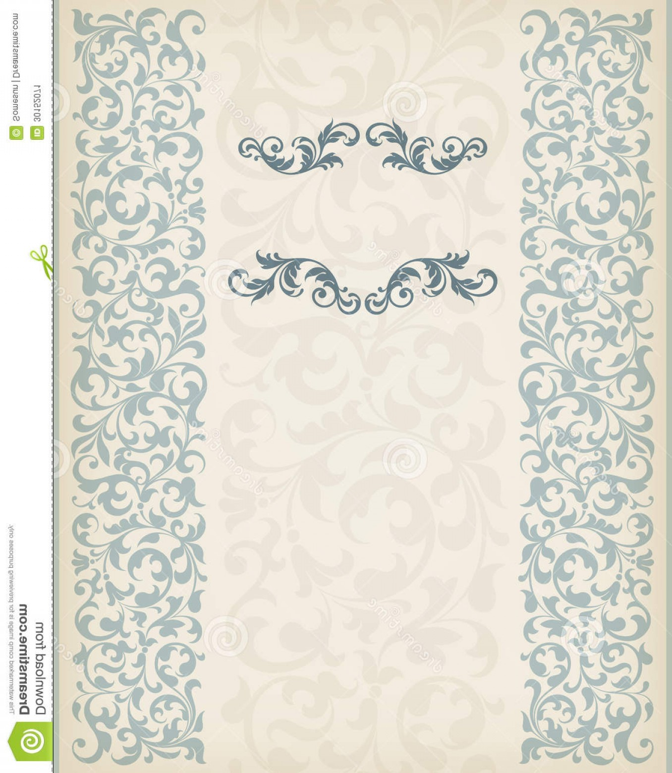 Vector Ornate Vintage Frame Blank: Stock Image Vector Vintage Ornate Border Frame Filigree Retro Ornament Pattern Antique Baroque Style Arabic Decorative Wedding Image