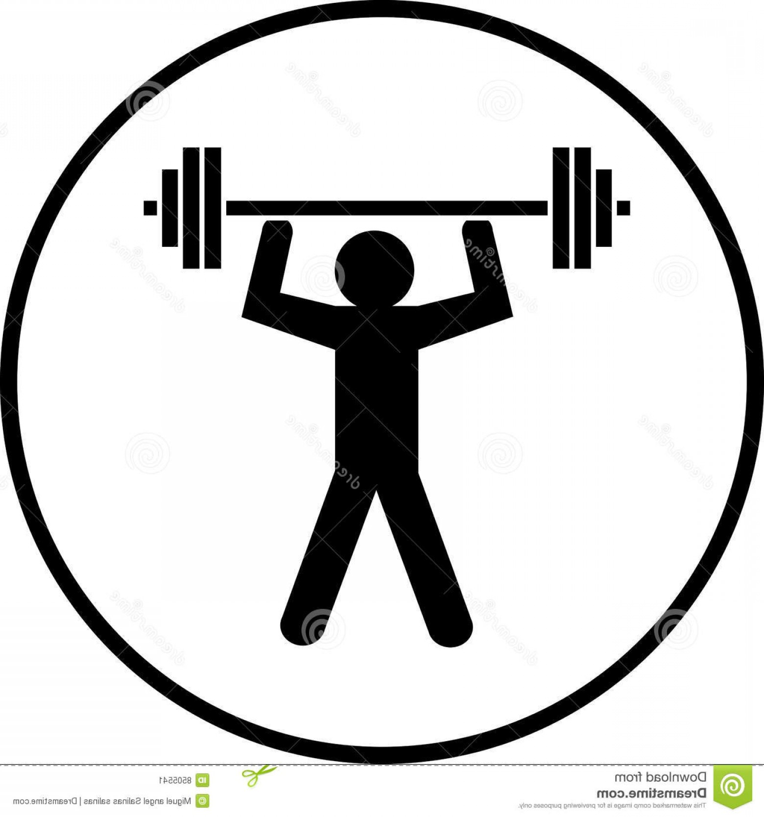 Vector Weight Lifting: Stock Image Weights Lifting Body Builder Symbol Vector Image