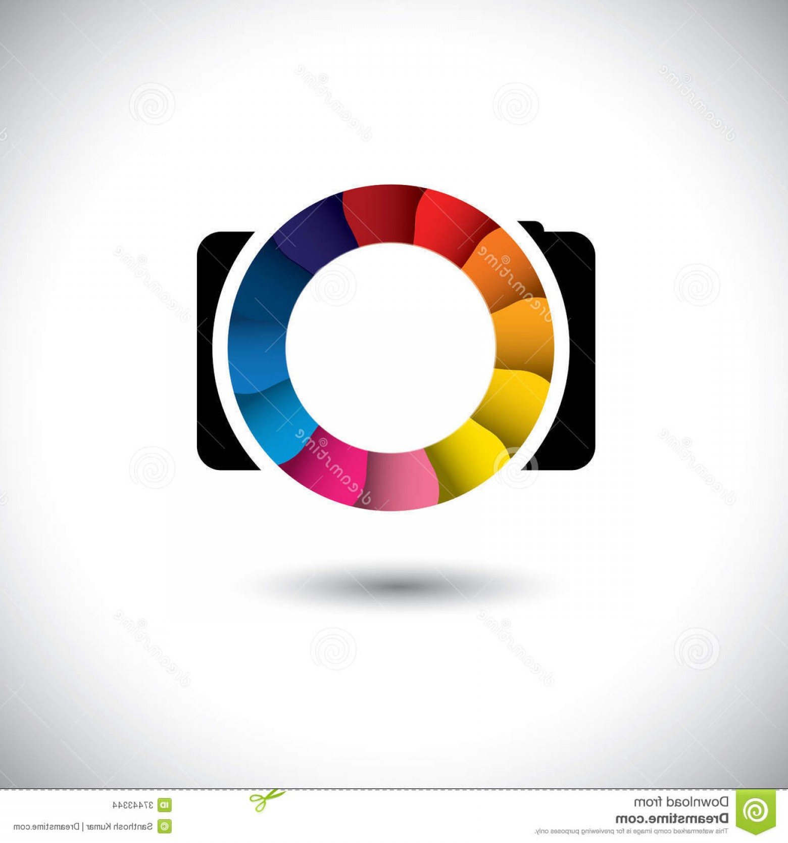 Camera Shutter Vector Art: Stock Images Abstract Slr Digital Camera Colorful Shutter Vector Icon Graphic Simple Representation Stylish Lens Image