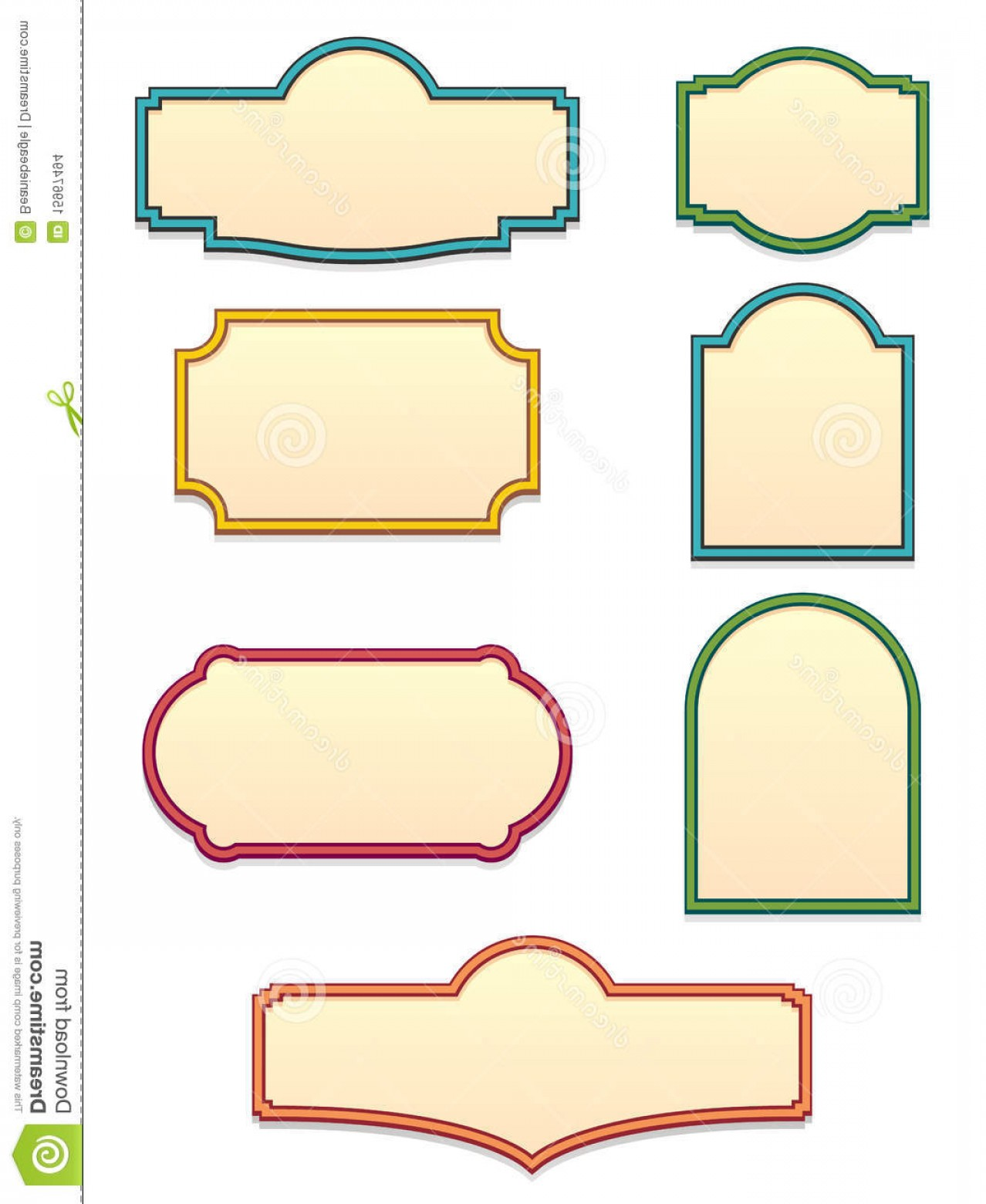 Vintage Sign Vector Clip Art: Stock Images Antique Sign Templates Eps Image