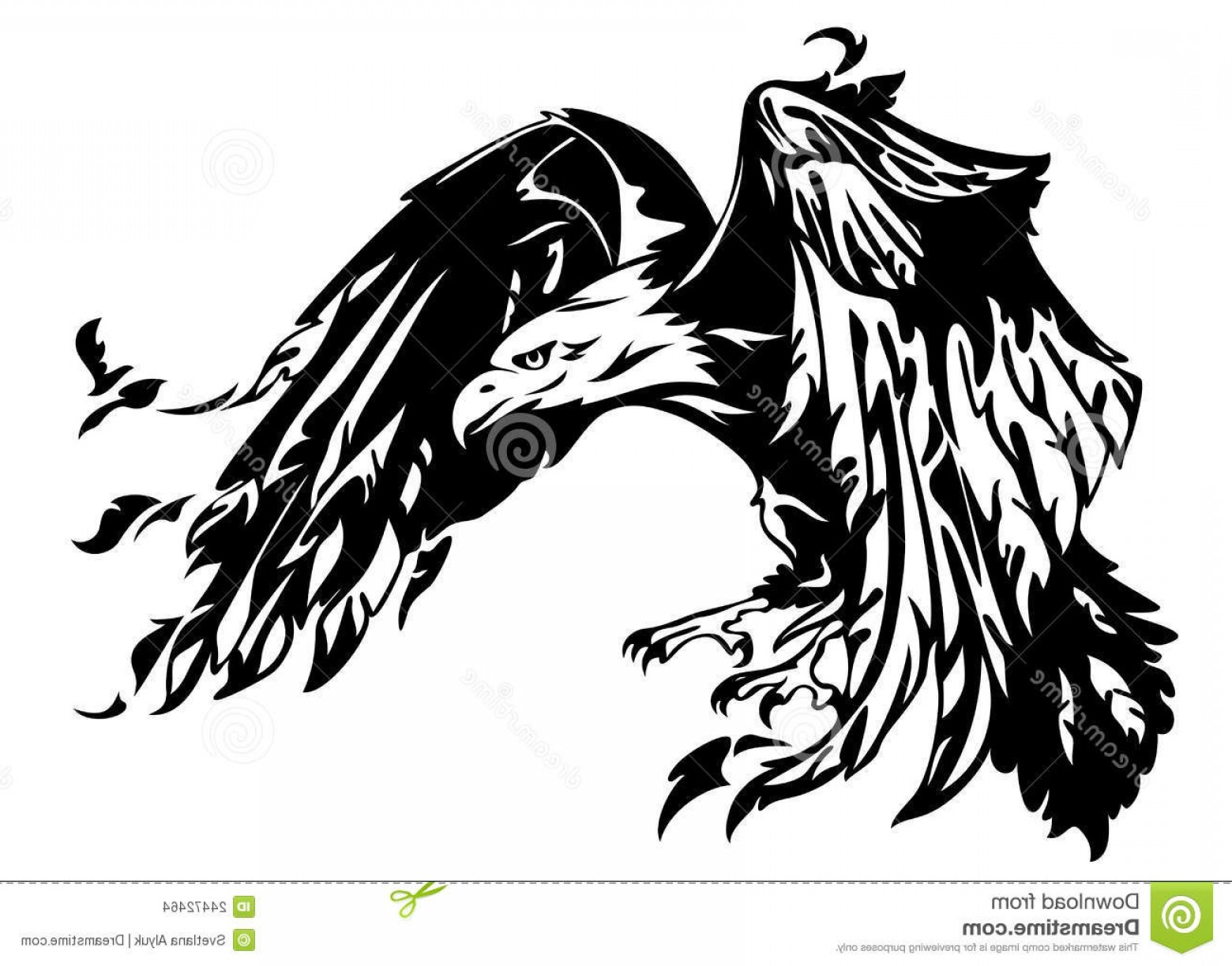 Patriotic Bald Eagle Vector: Stock Images Bald Eagle Vector Image