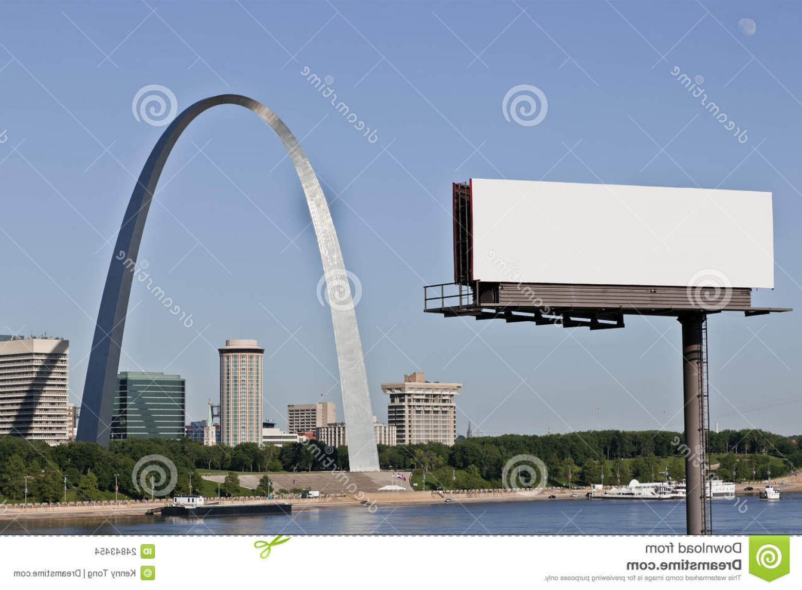 Arch Vector Illinios: Stock Images Billboard Gateway Arch St Louis Image