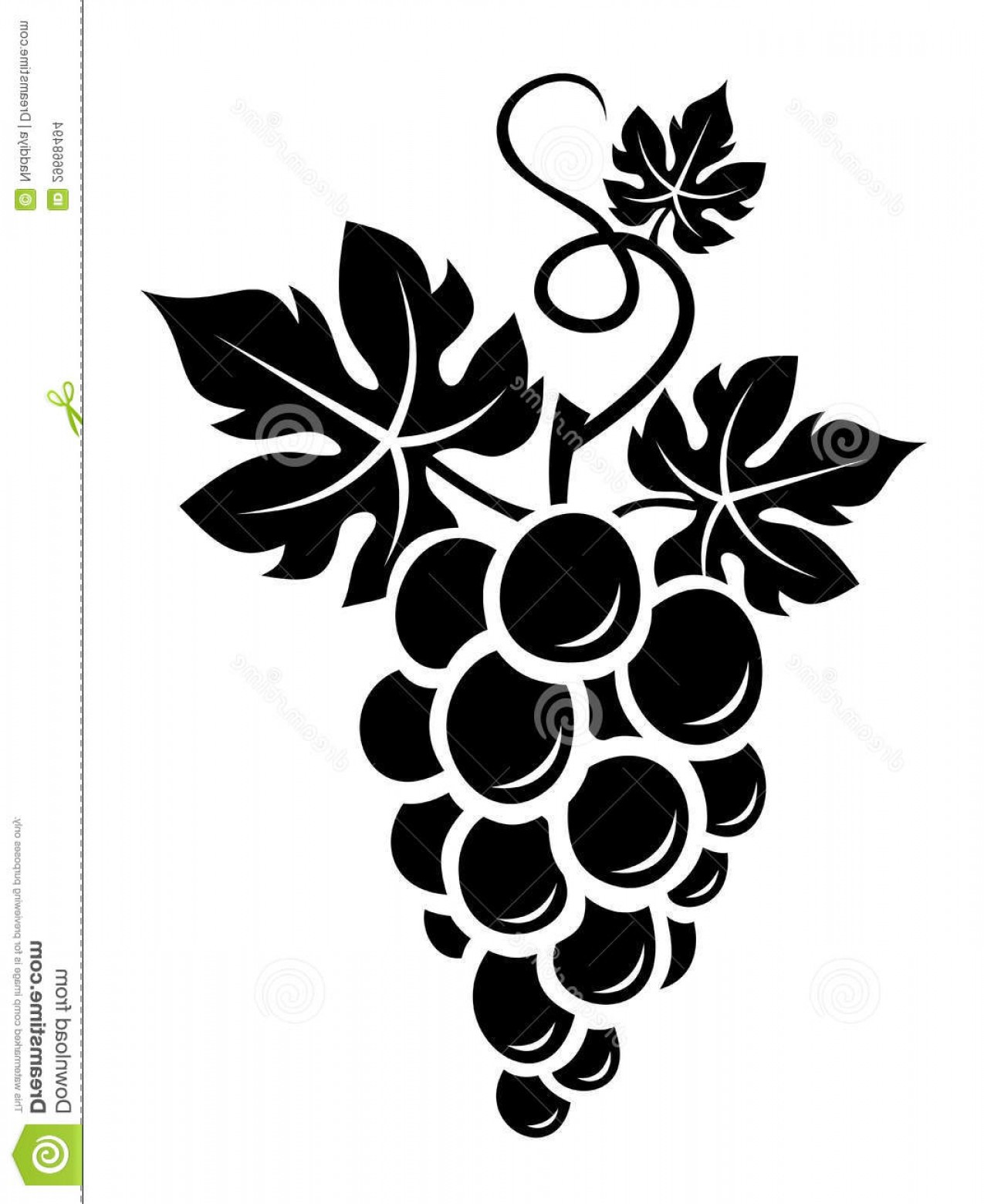 Grapes Clip Art Vector: Stock Images Black Silhouette Grapes Image