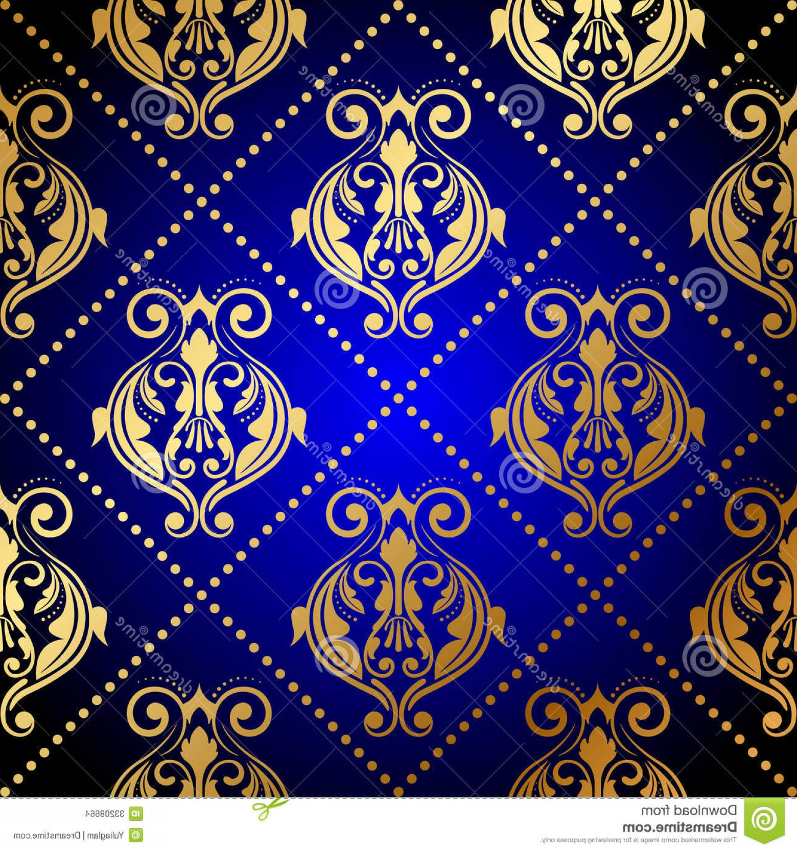 Vector Blue Luxury: Stock Images Blue Background Luxury Gold Ornament Vector Image