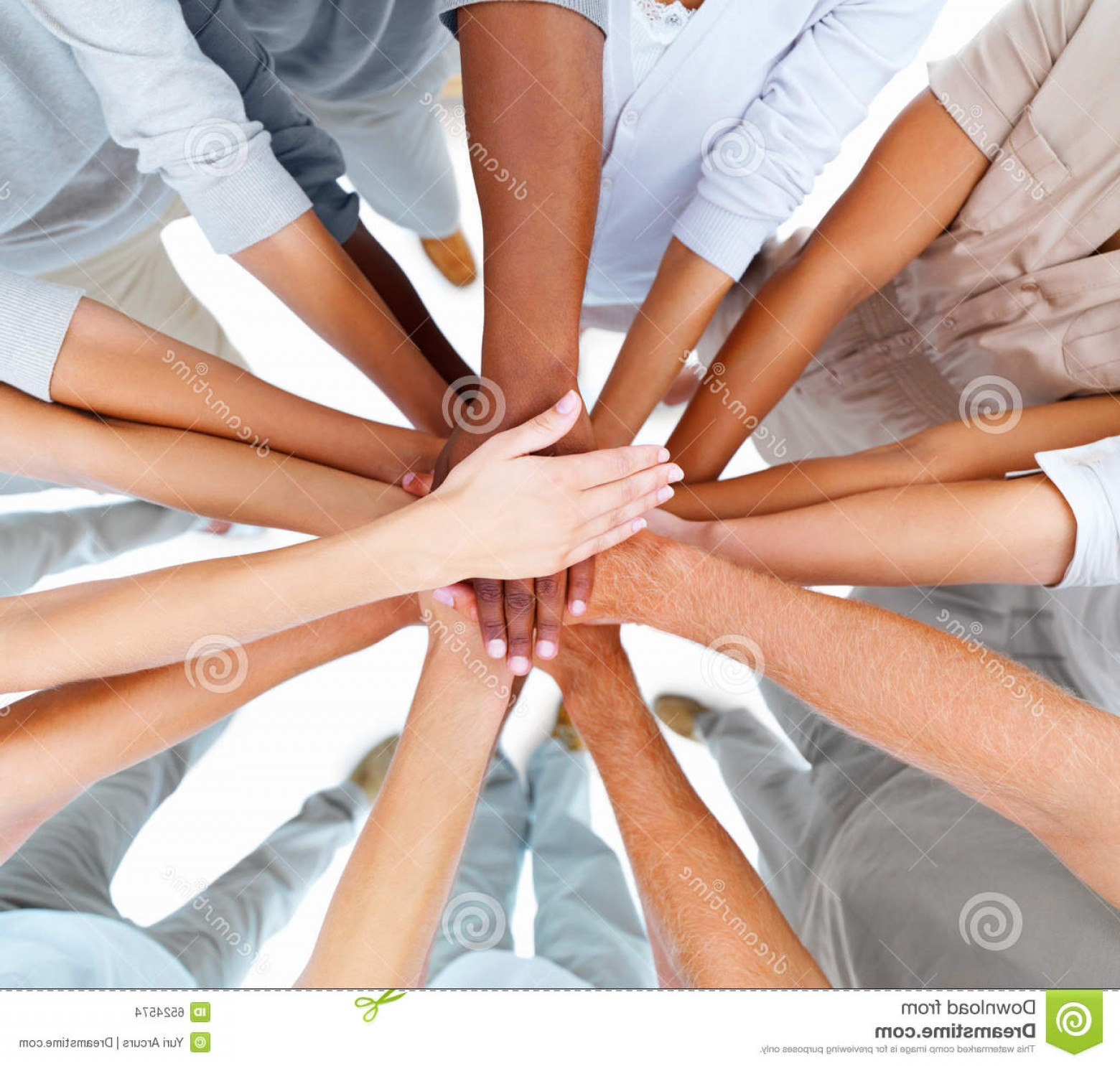 Vector Group Of Hands Overlapped: Stock Images Business People Hands Overlapping To Show Teamwork Image
